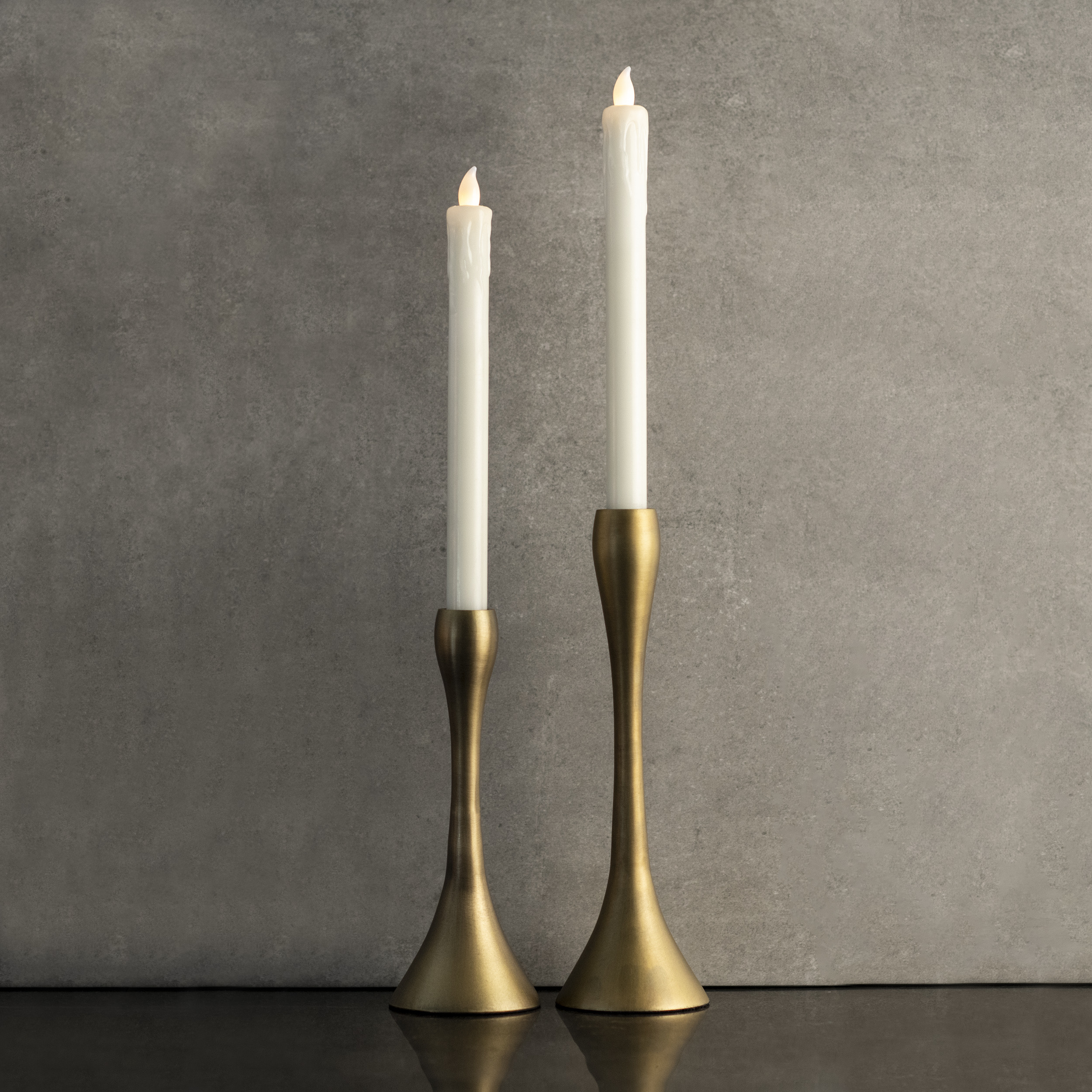 Antique Brass Candleholder - Short