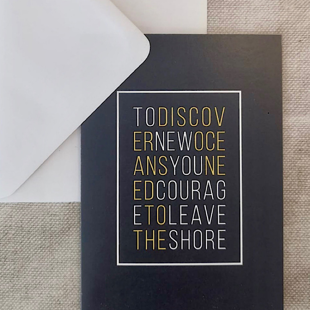 'To Discover New Oceans...'Card