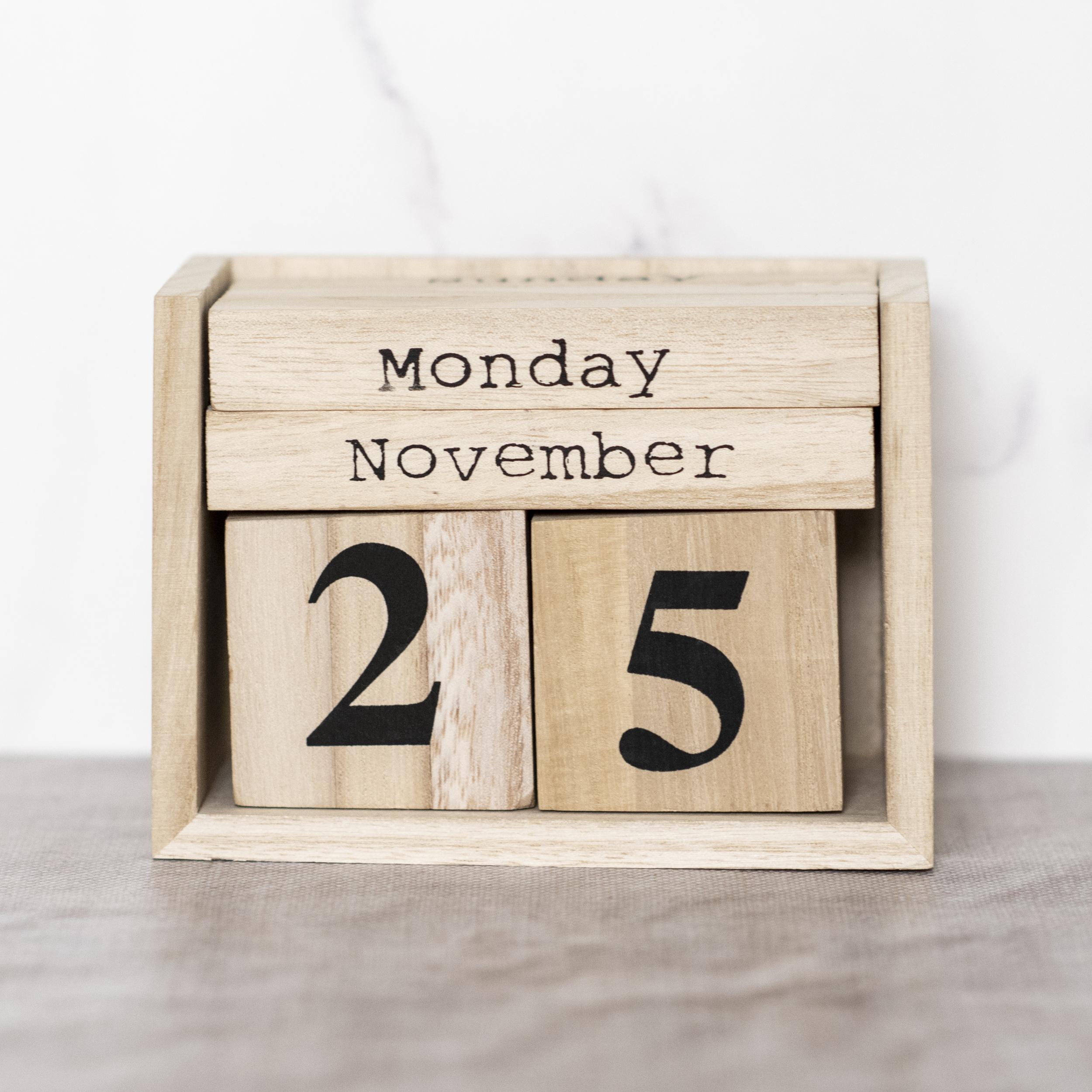 Paulownia Wood Perpetual Calendar