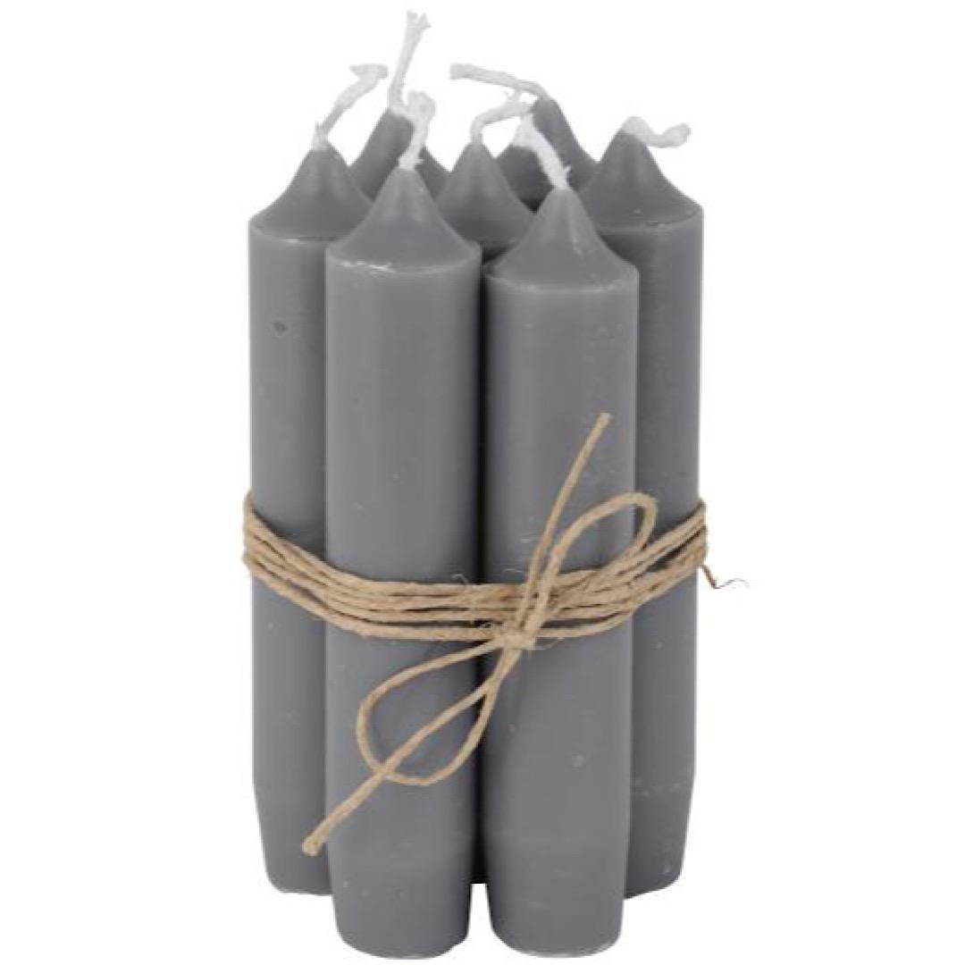 Small Dark Grey Dinner Candle