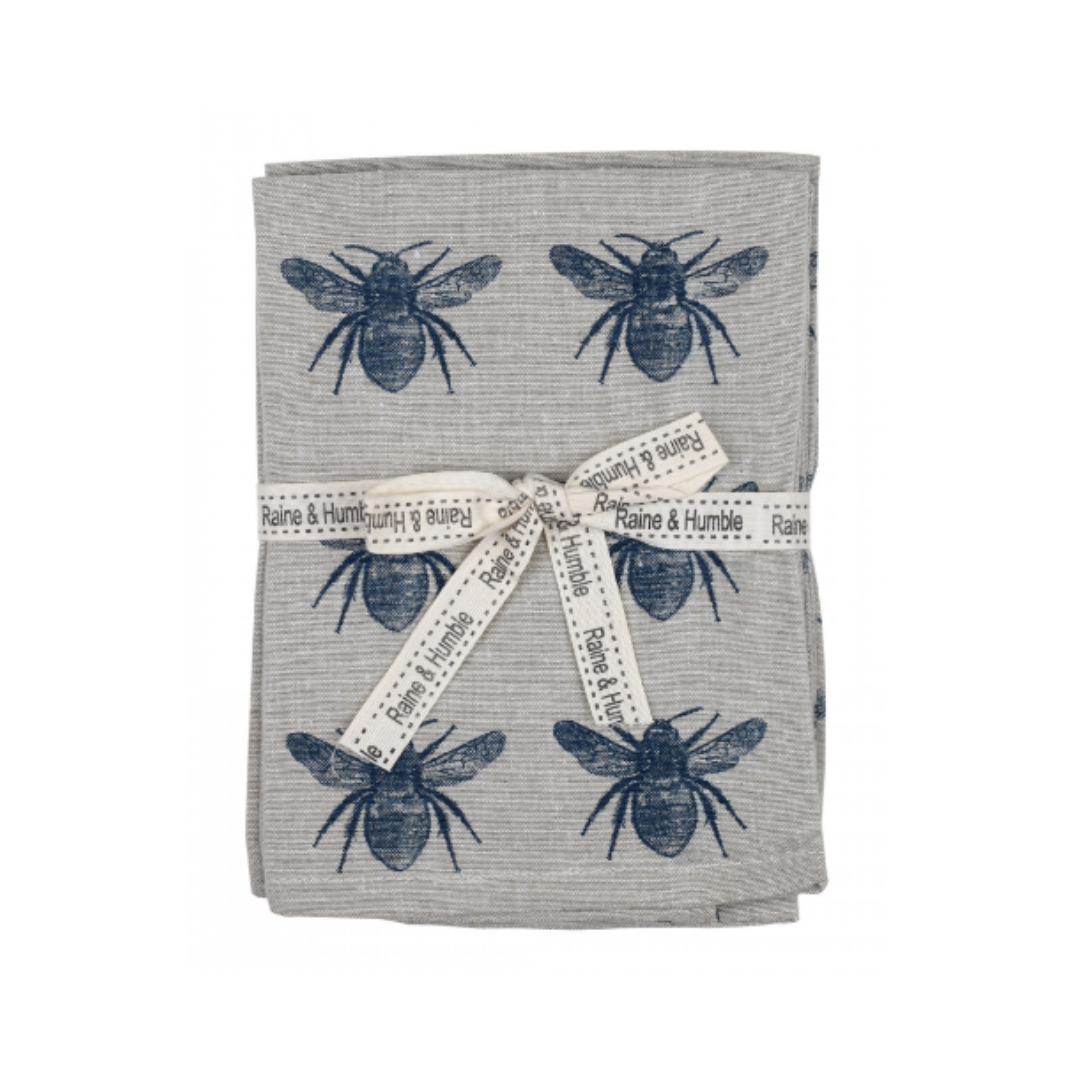 Napkin: Blue Honey Bee - Set of 4