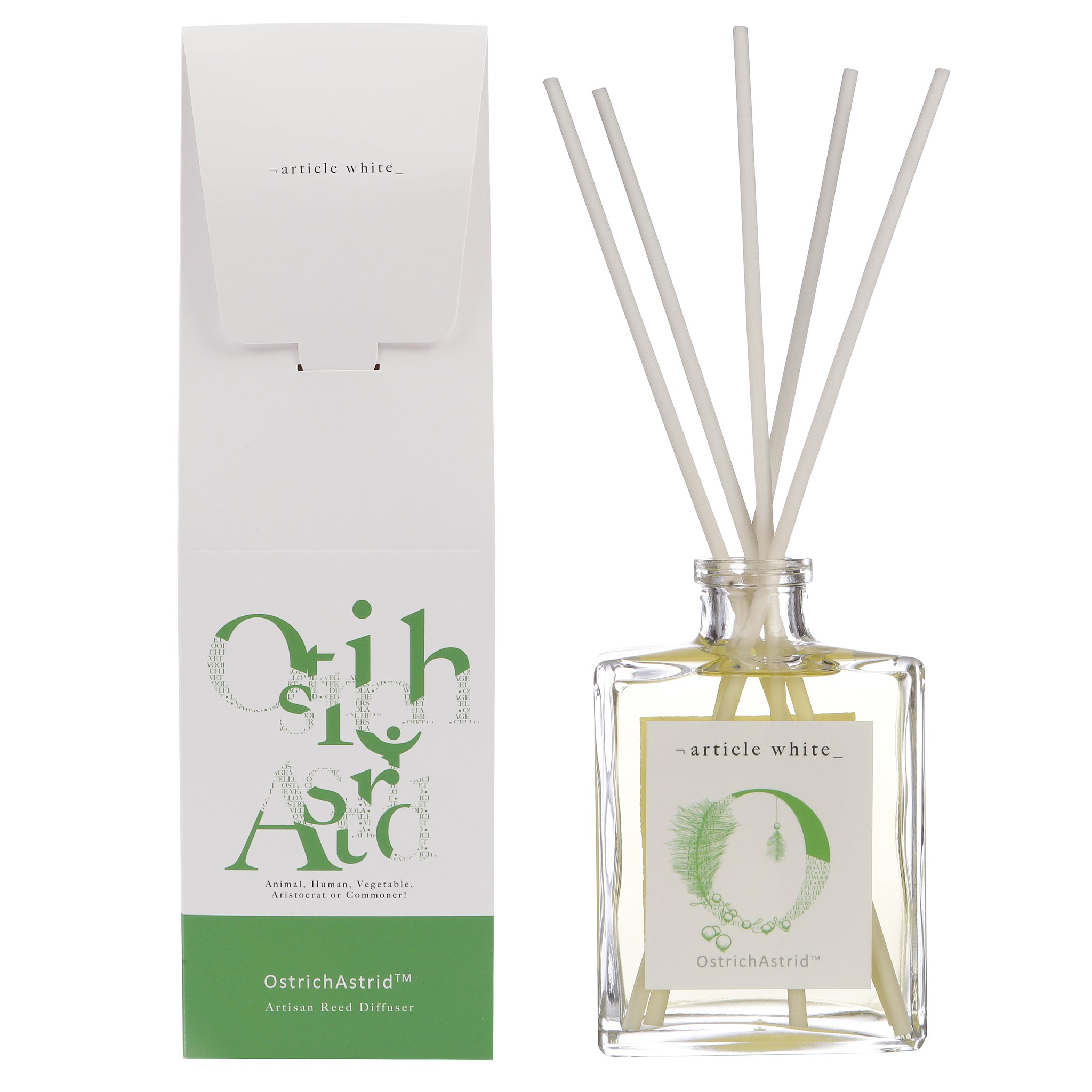 Article White 'Ostrich Astrid' Reed Diffuser