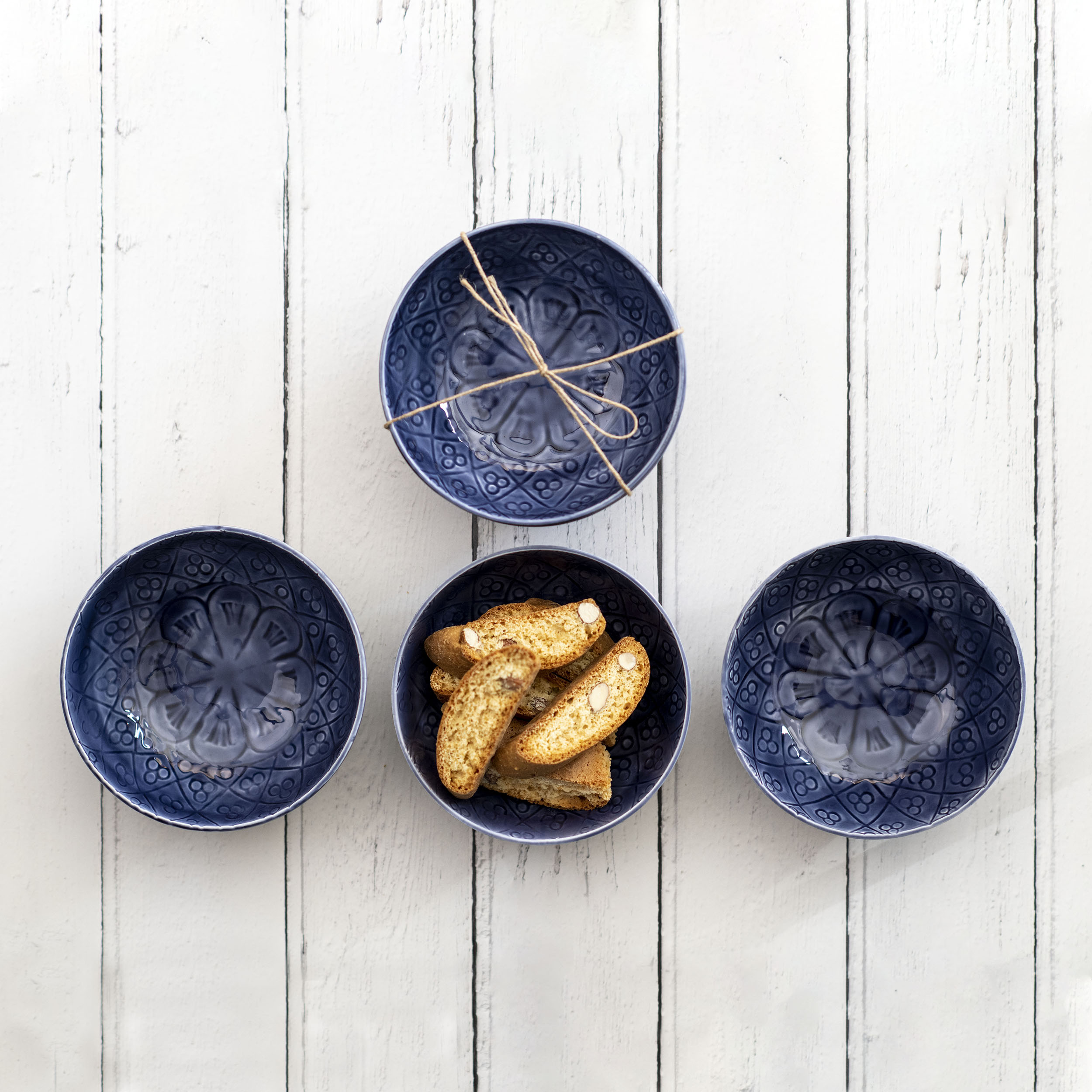 Blue Nibble Bowls - Set of 3.