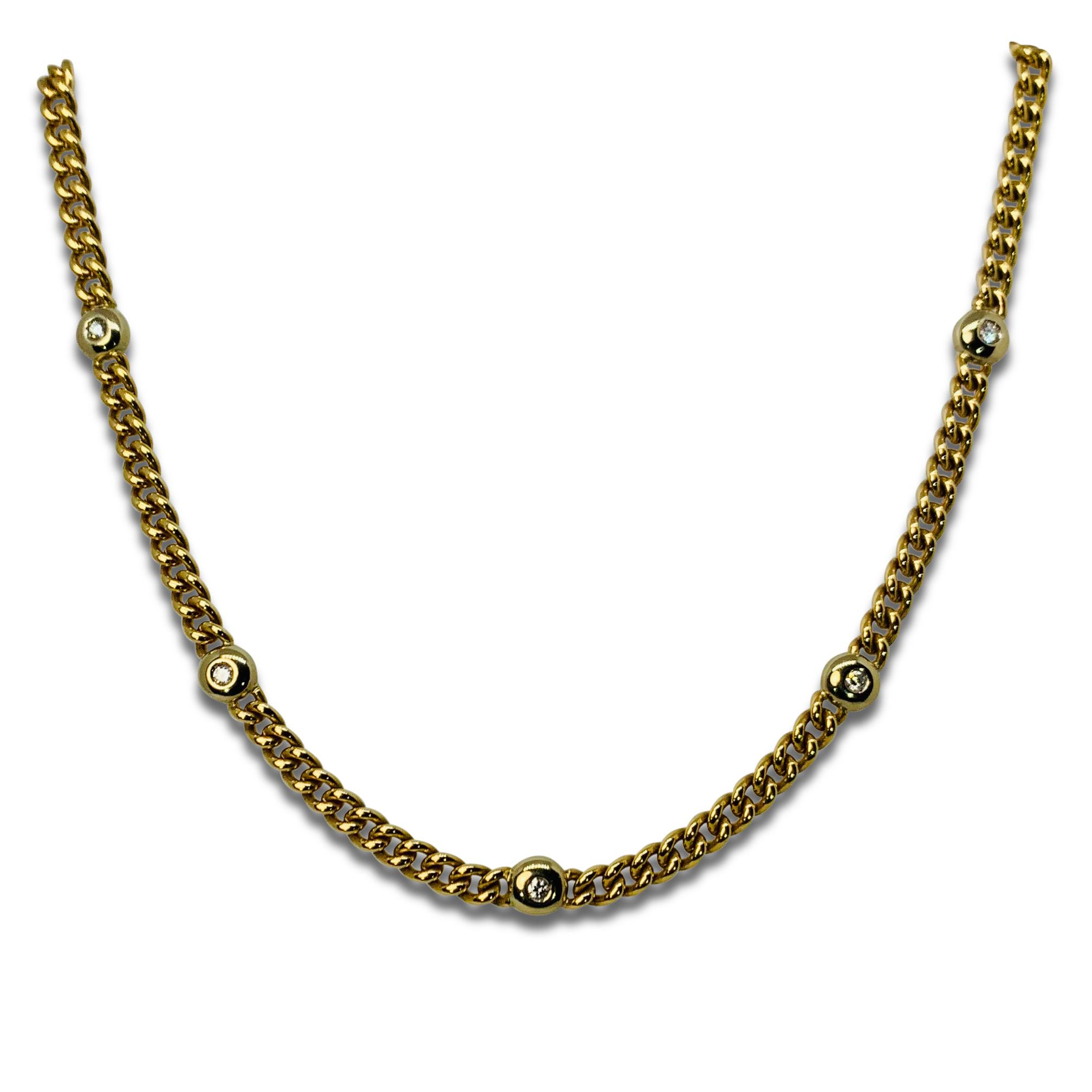 Collier Guld Diamanter