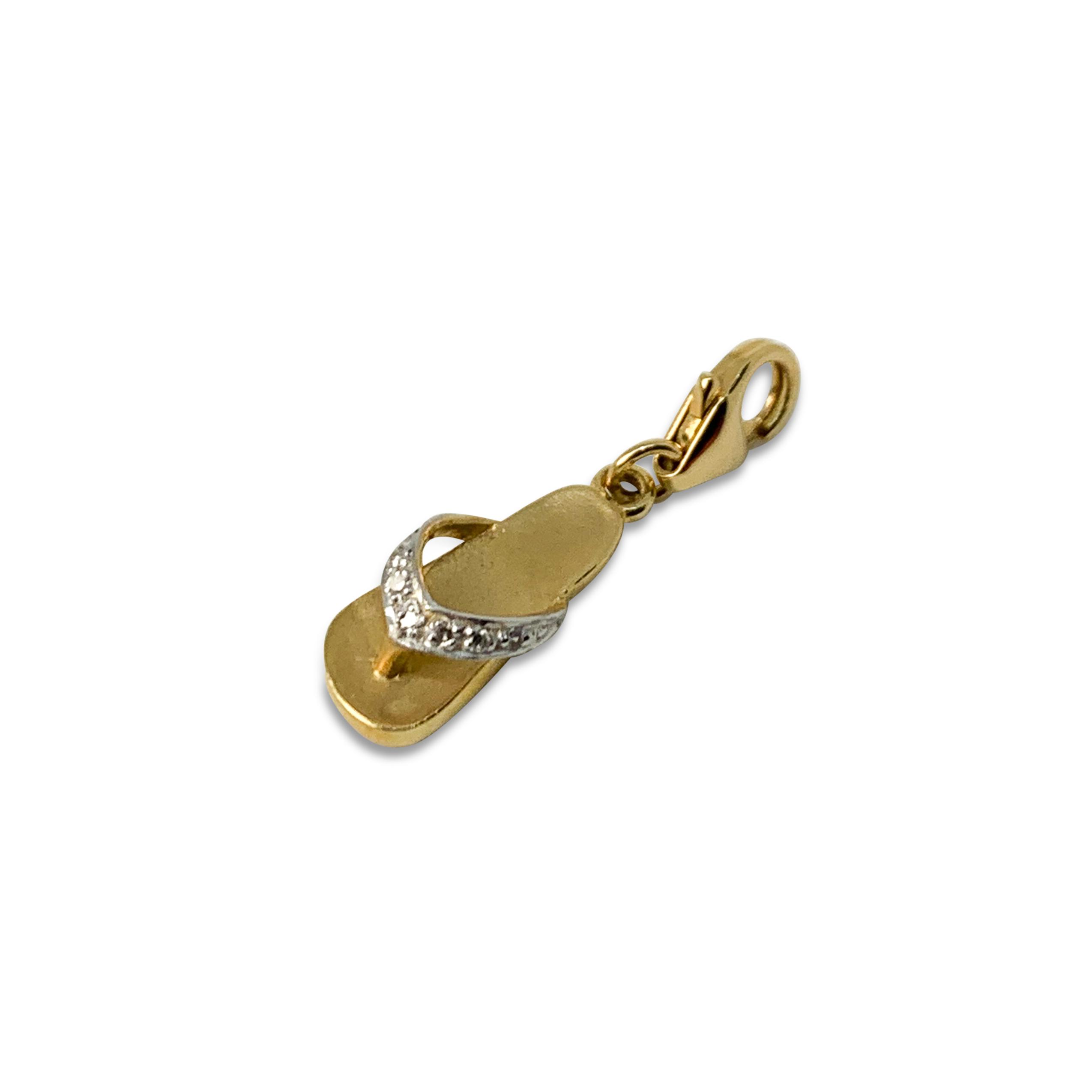 Berlock Sandal Guld Diamanter
