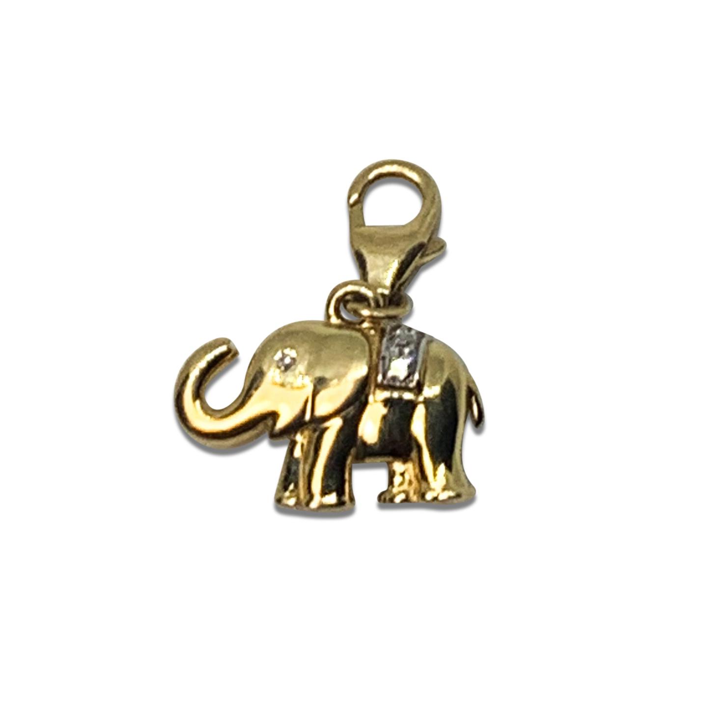 Berlock Elefant Guld