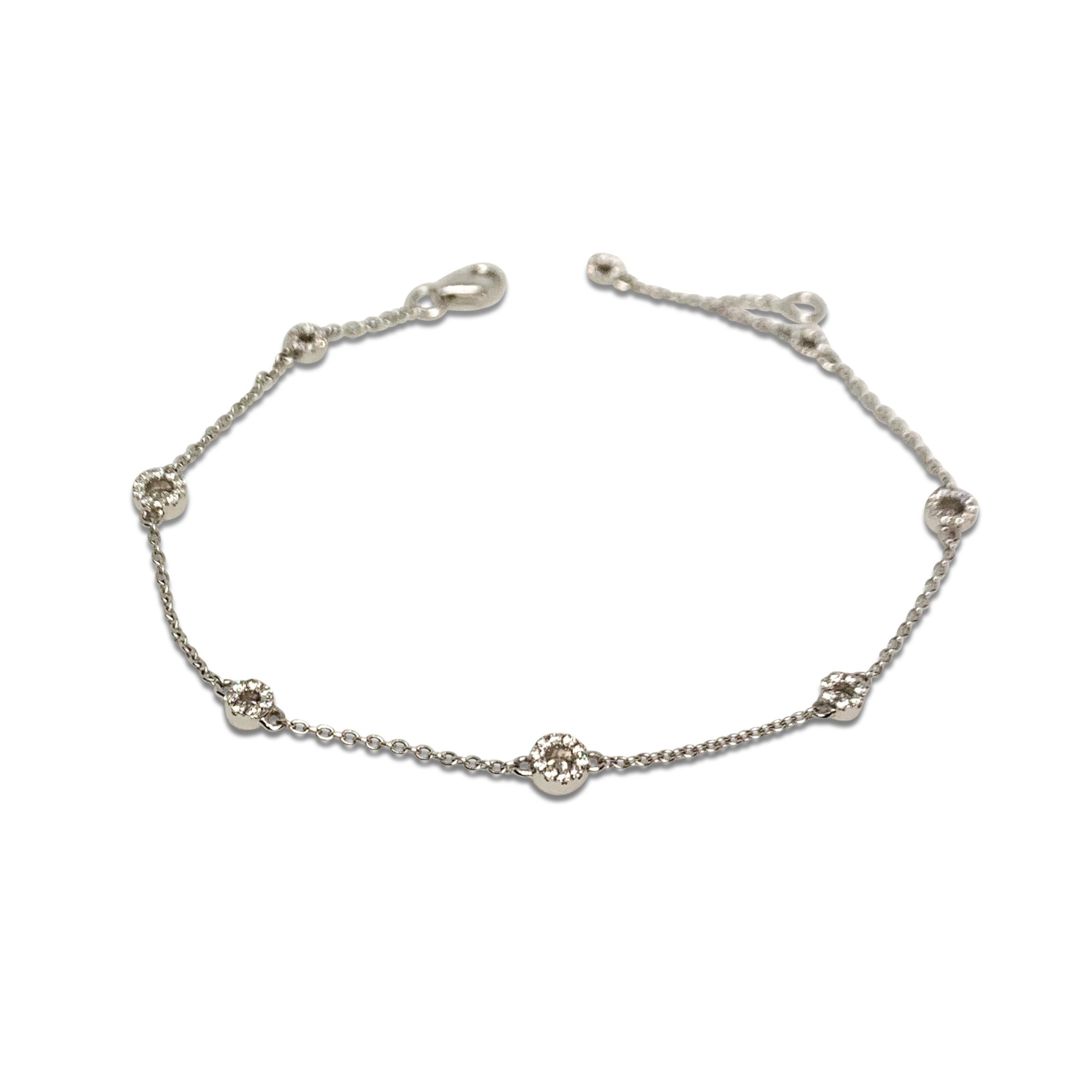 Armband Vit Guld Diamanter