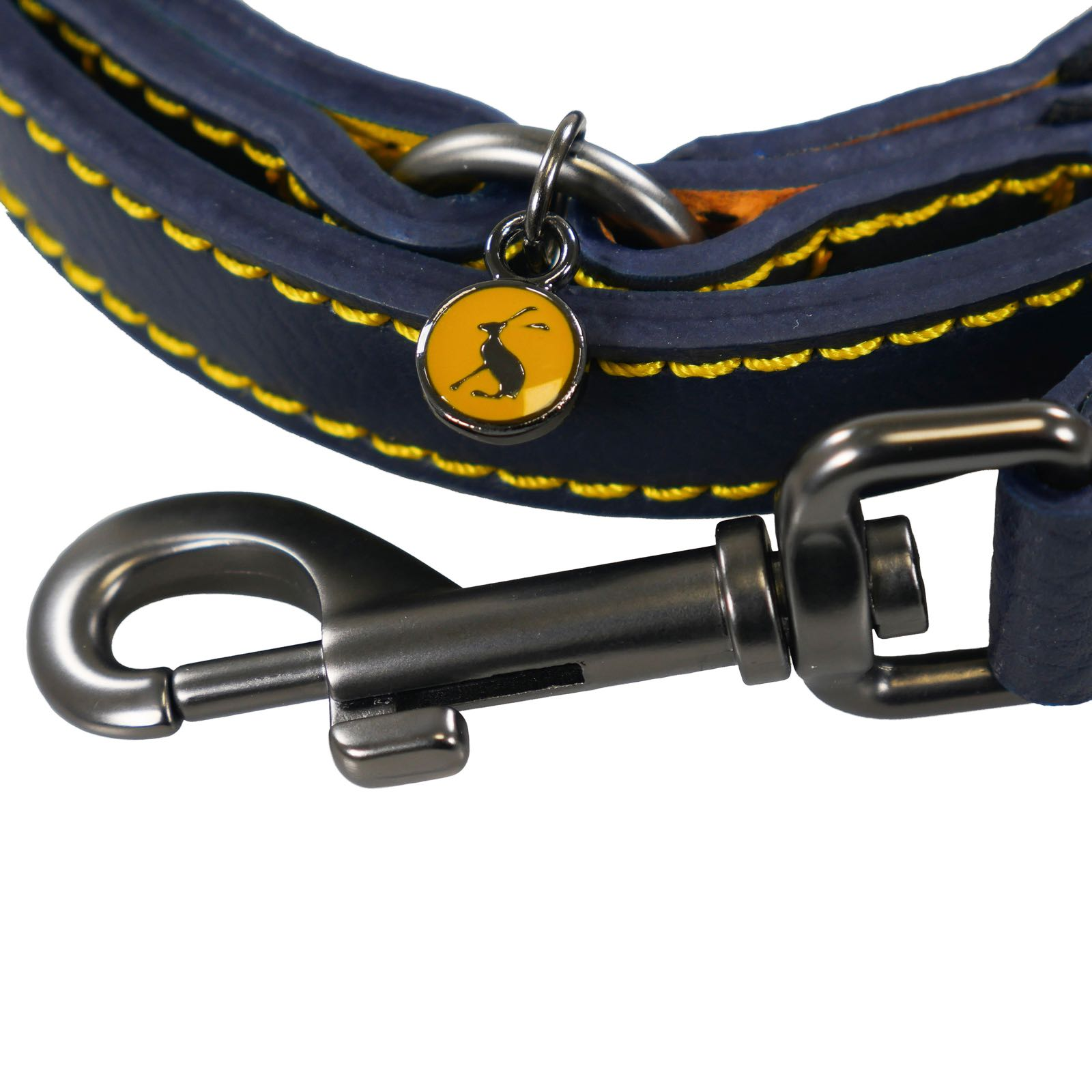 Joules Navy Leather Dog Lead  WAS £15