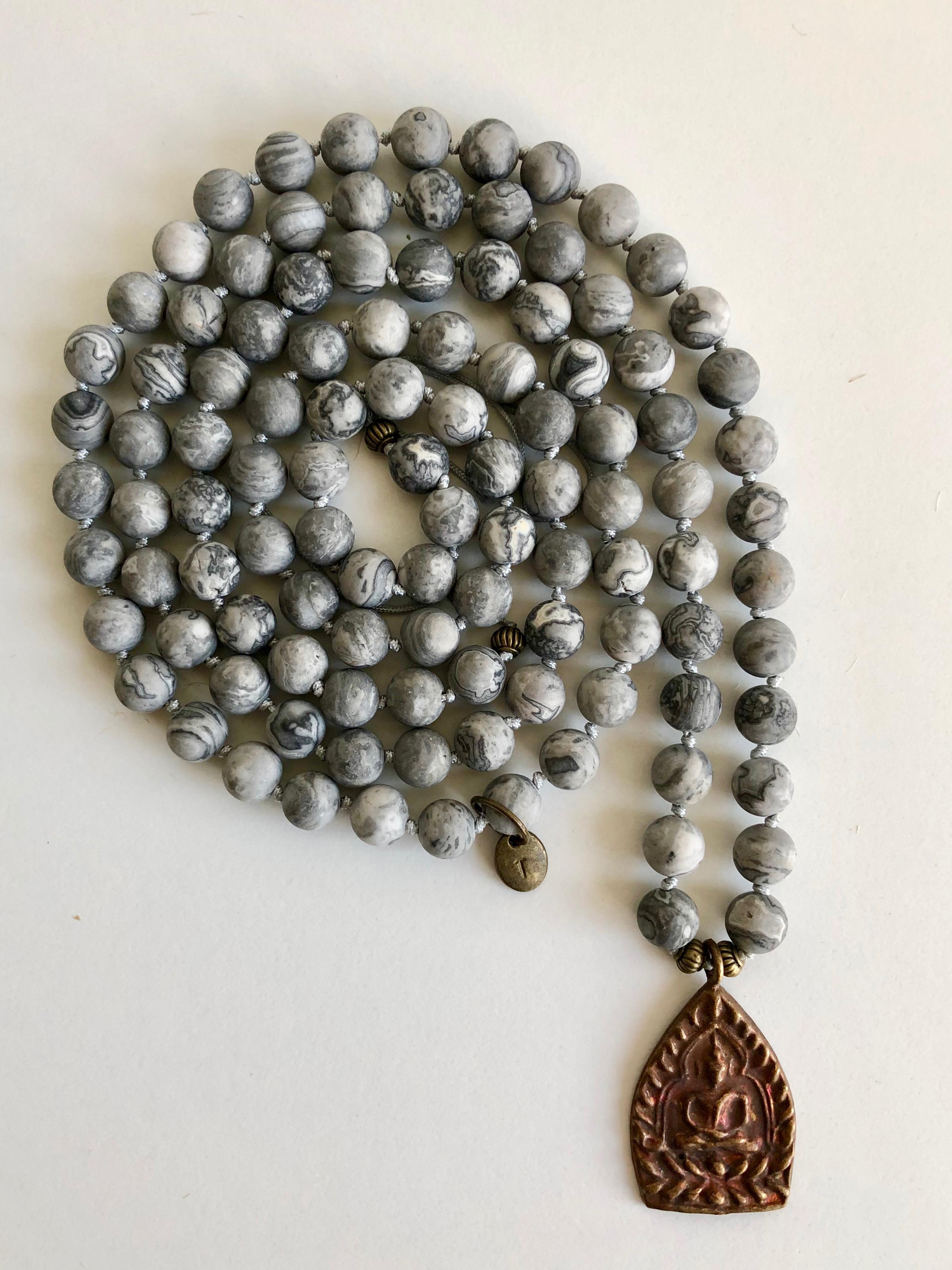 13- MALA grey copper amulet