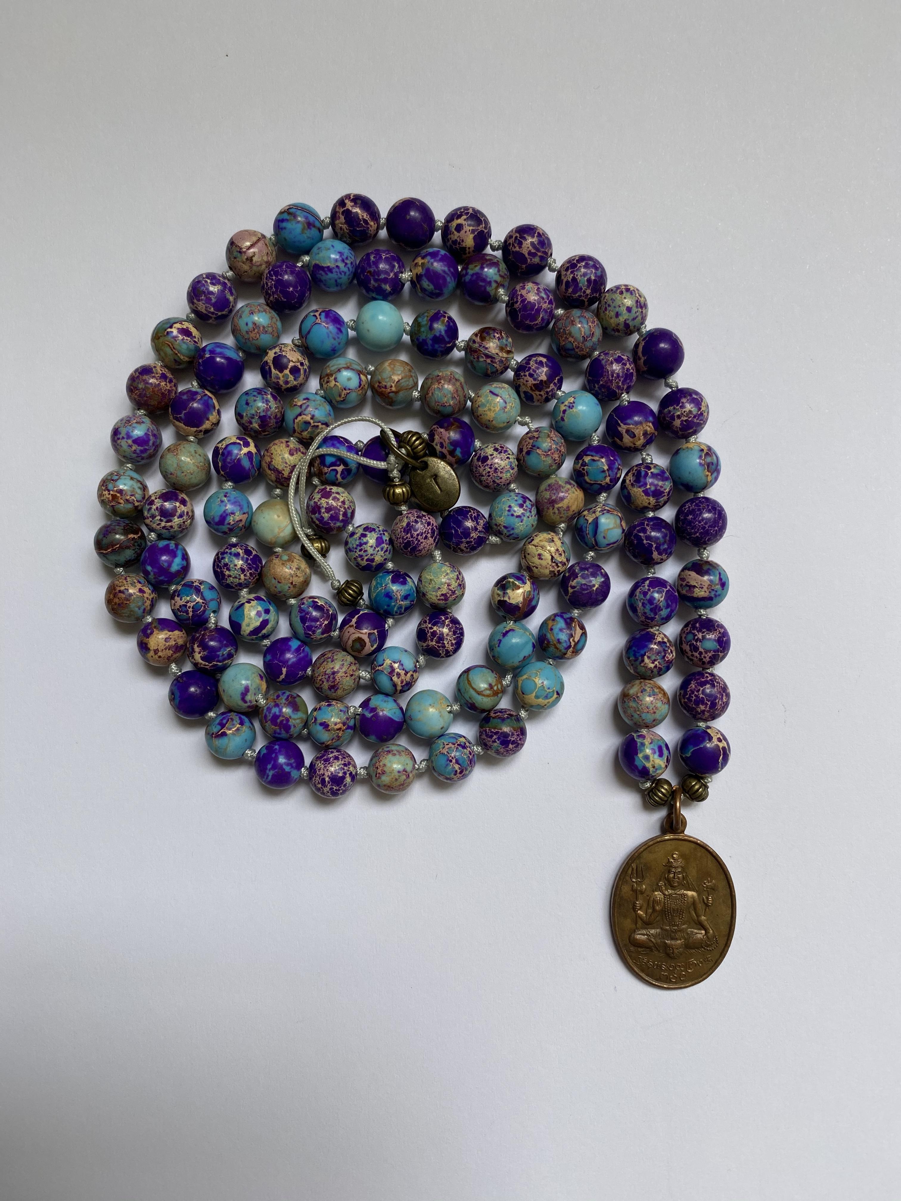 10- MALA bohemian copper amulet