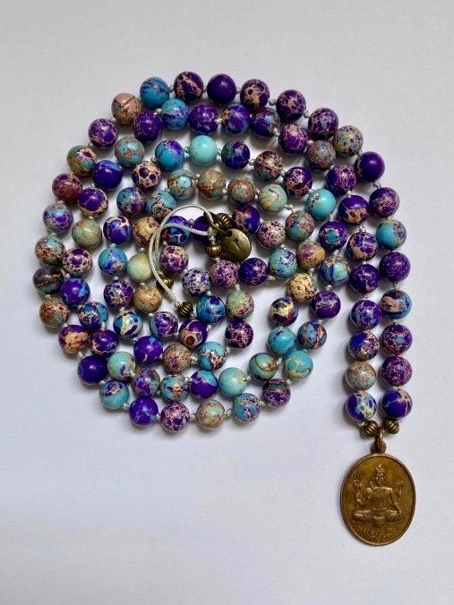 12- MALA bohemian copper amulet
