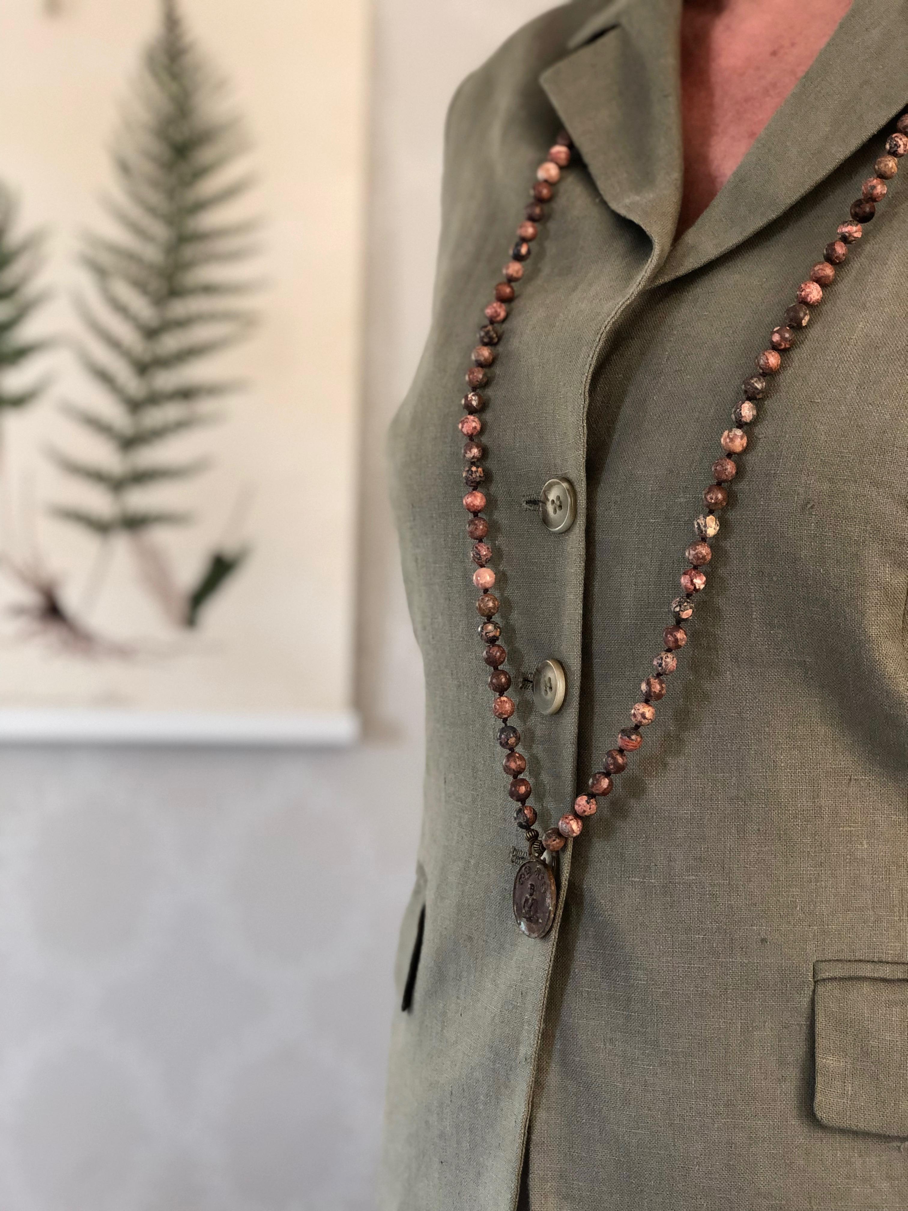 17- MALA leopard bronze amulet