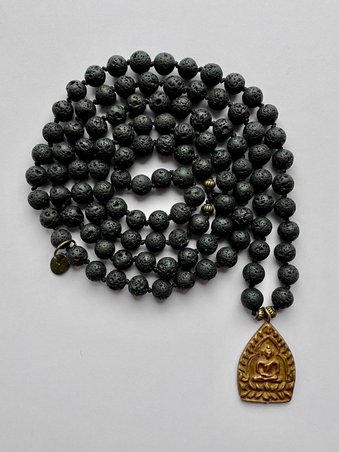 11- MALA black copper amulet