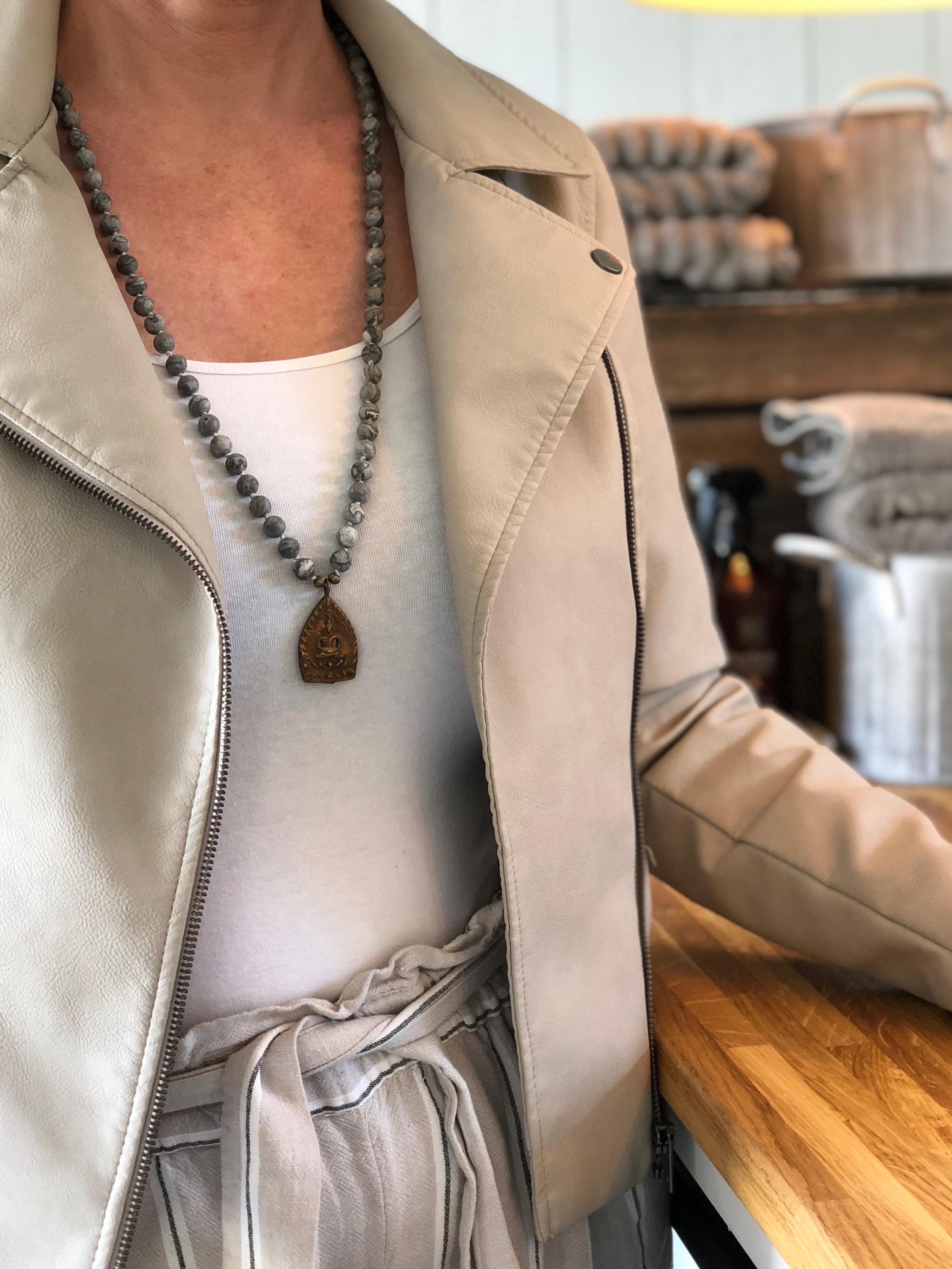 15- MALA grey copper amulet