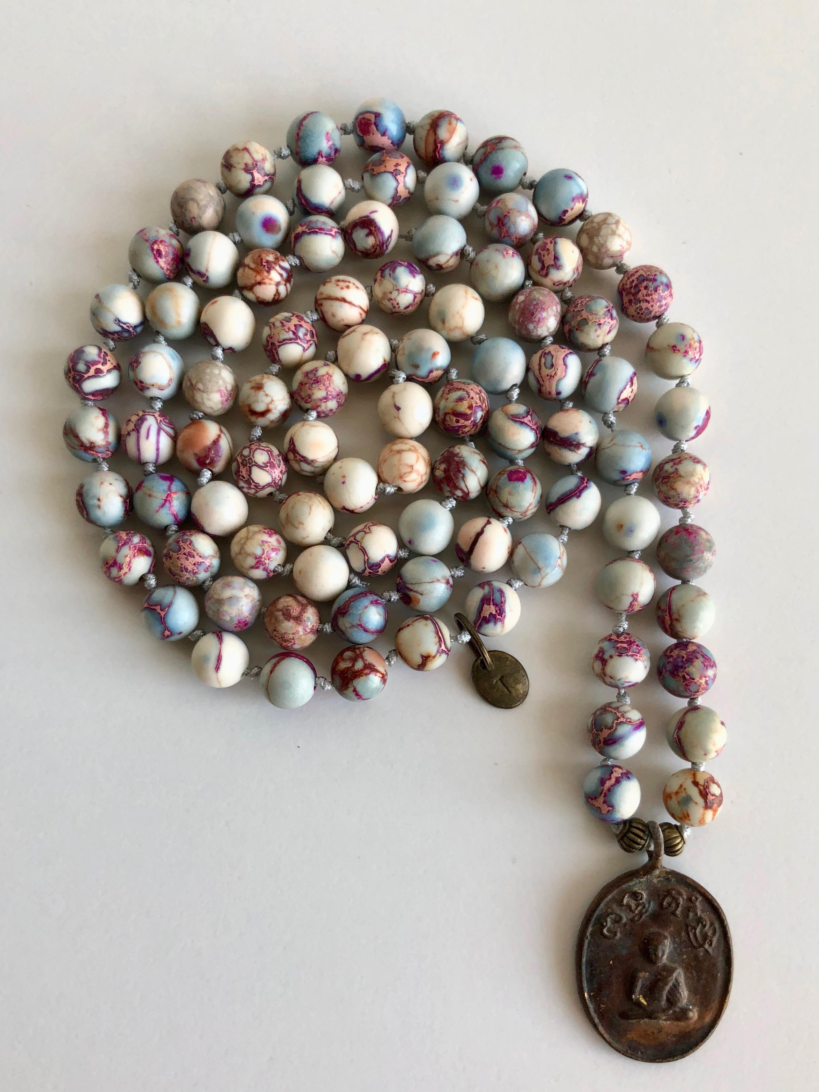 14- MALA purple bronze amulet