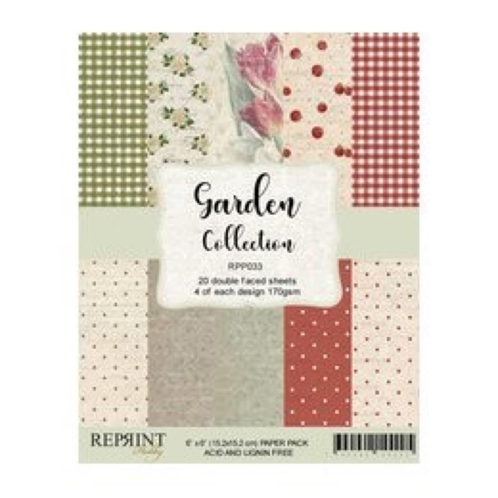 Reprint 6x6 , garden collection paper pack, RPP033