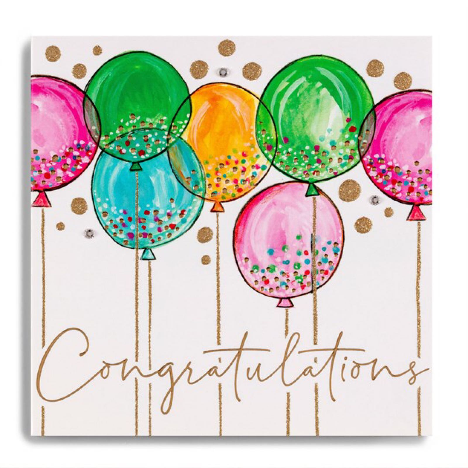 Janie Wilson congratulations balloon card