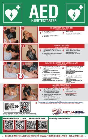 AED Informationstavle