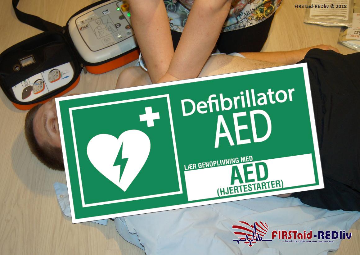Lær genoplivning med AED (hjertestarter)