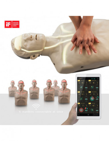 Førstehjælpsdukke BRAYDEN™ Voksen PRO. M/Bluetooth feedback.
