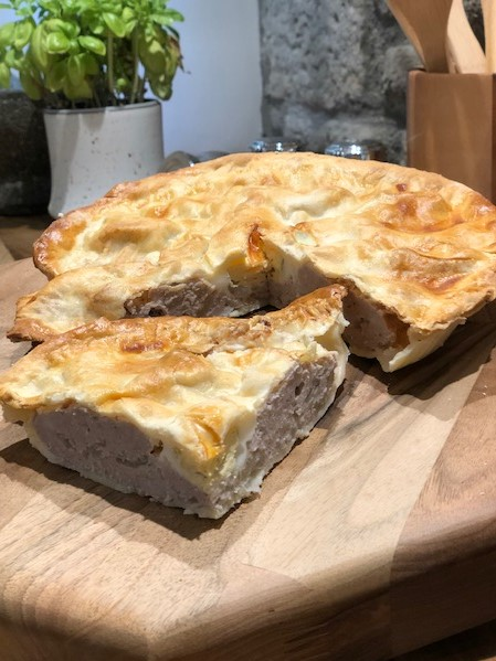 Home Baked Sausage & Egg Pie