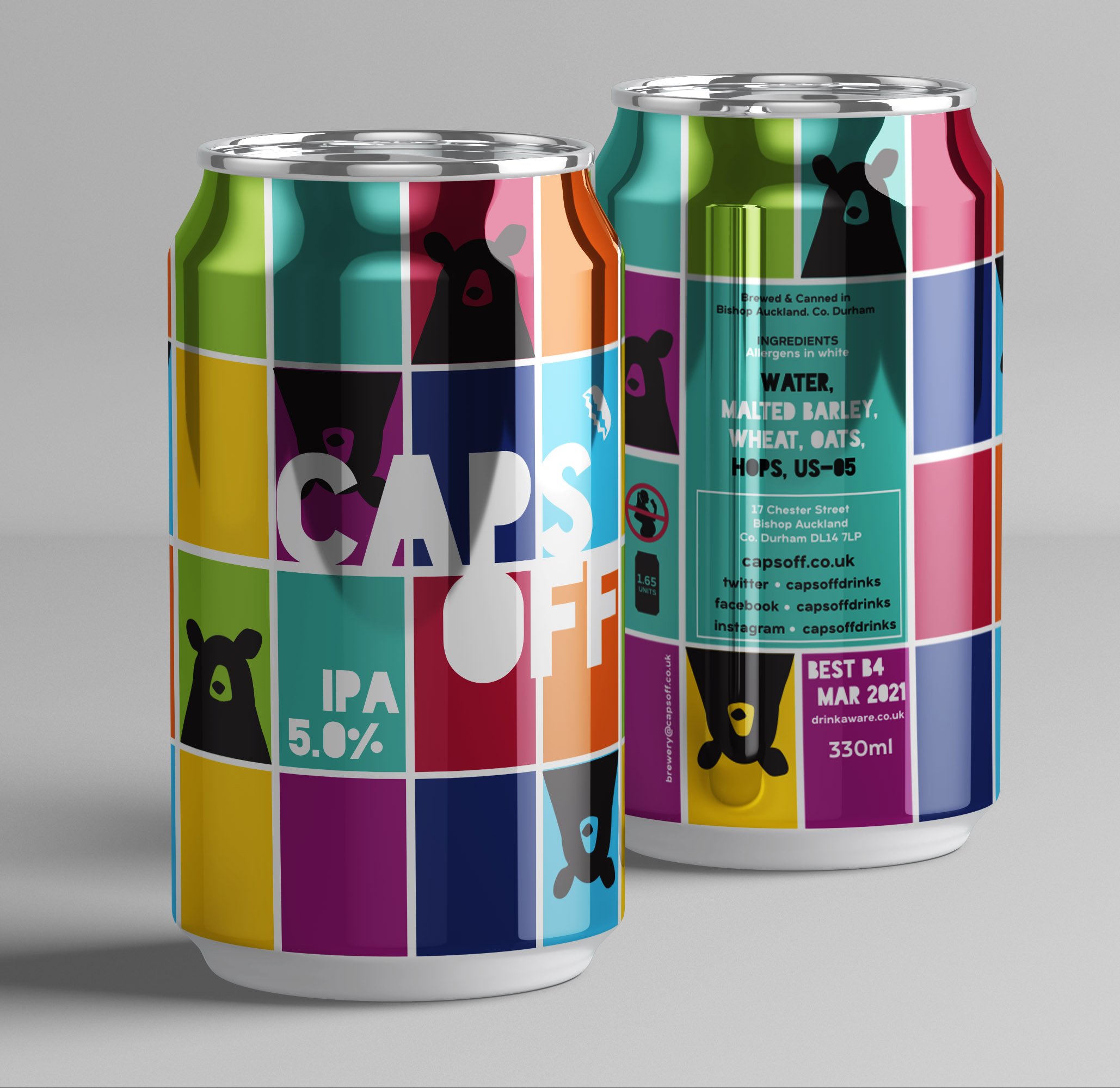 Caps Off IPA 330ml 5.0% (12 x 330ml Cans)