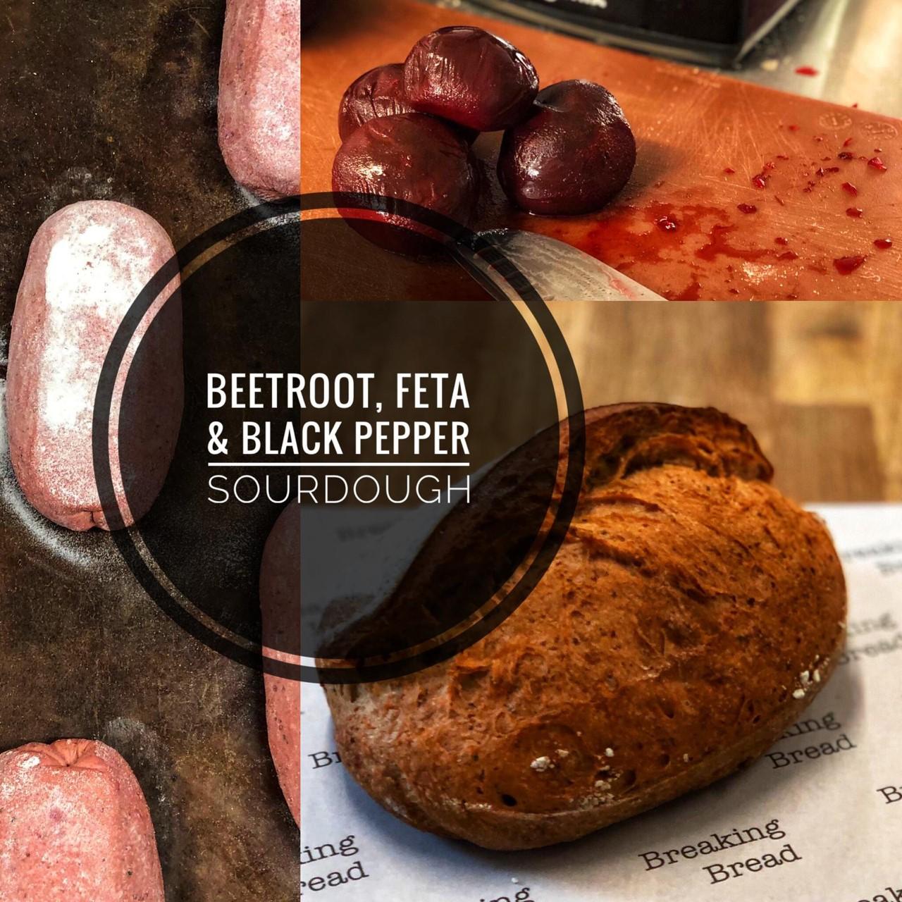 Breaking Bread Beetroot, Feta & Blackpepper sourdough