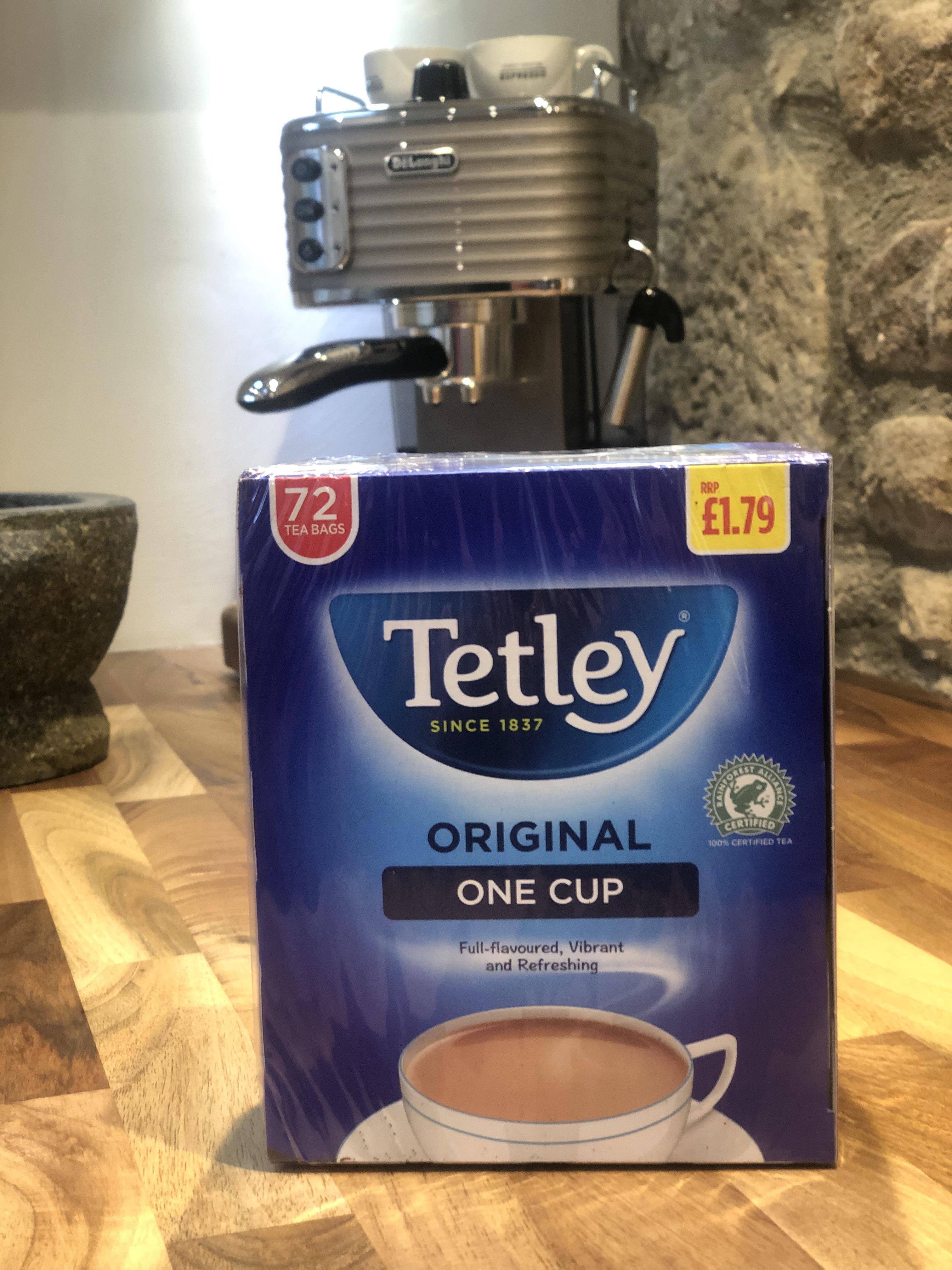 Bulk Buy Tetley Tea 1 cup (72 bags)