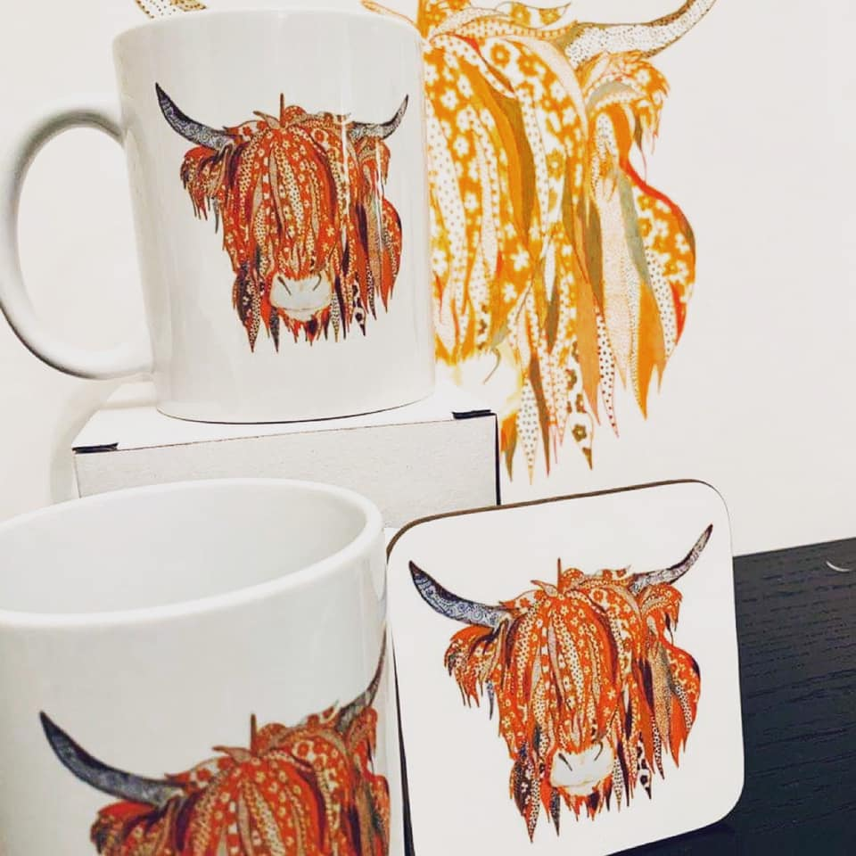 Art By Anna Lee Cup & Coaster Set