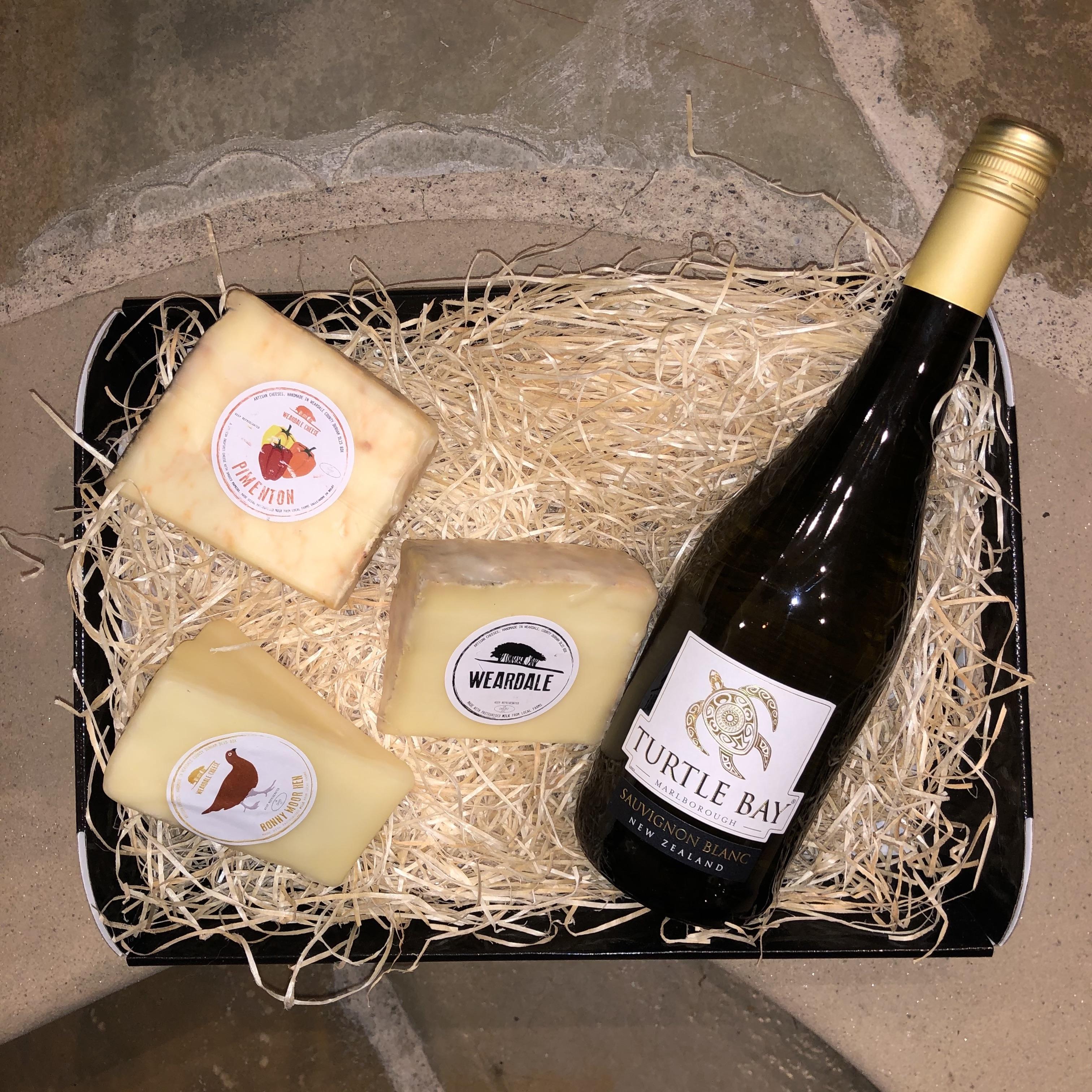 Clarks Hamper - White Wine & Cheese