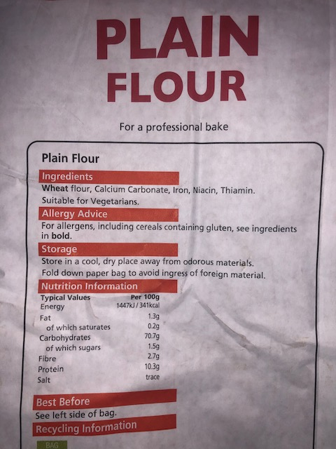 Plain Flour (1.5kg bag)