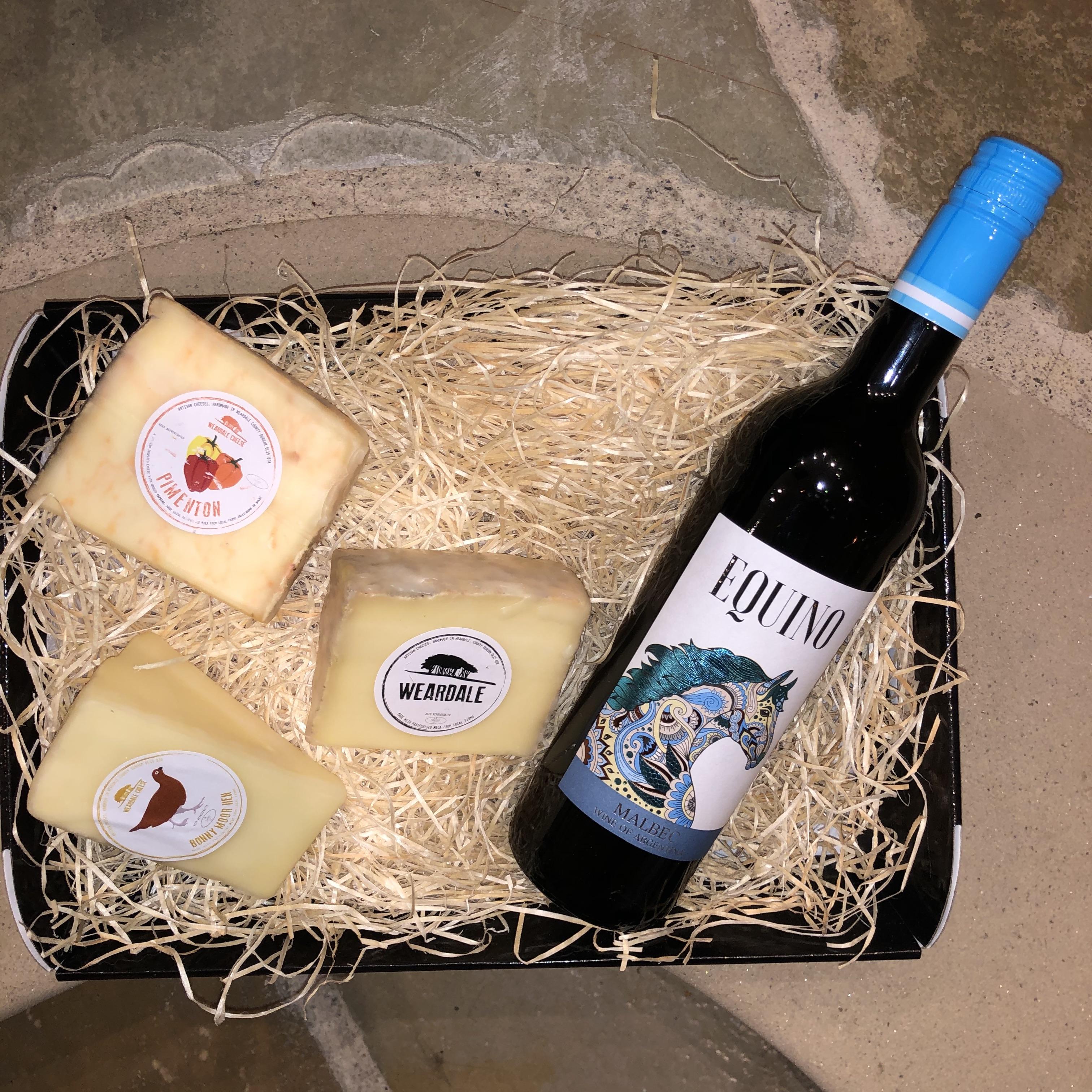 Clarks Hamper - Red Wine & Cheese