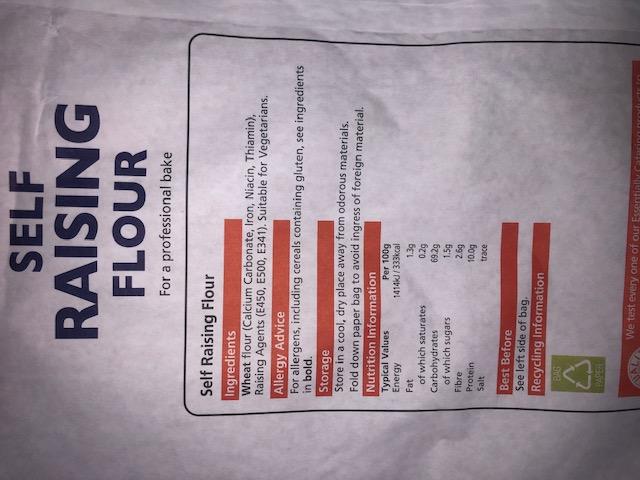 Self Raising Flour (1.5kg bag)