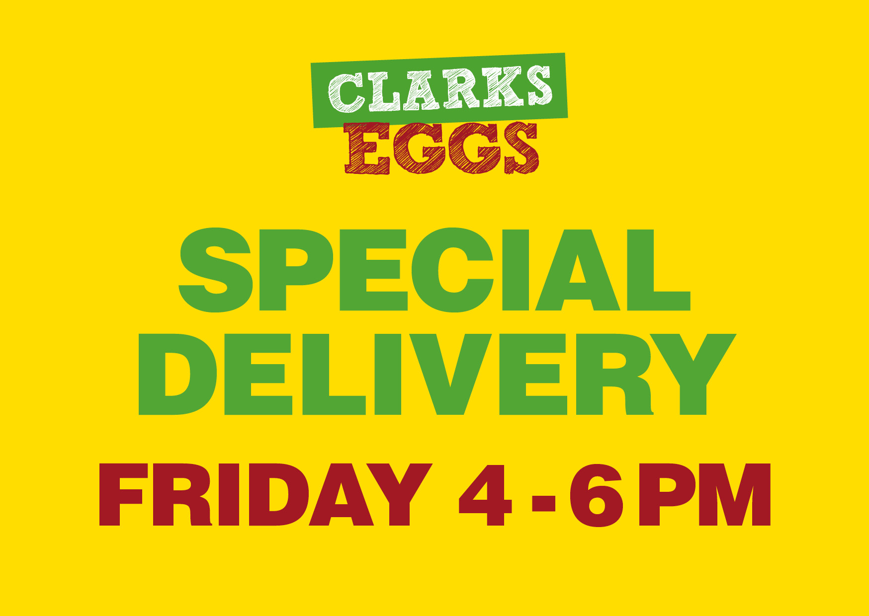 Friday 4-6pm delivery slot