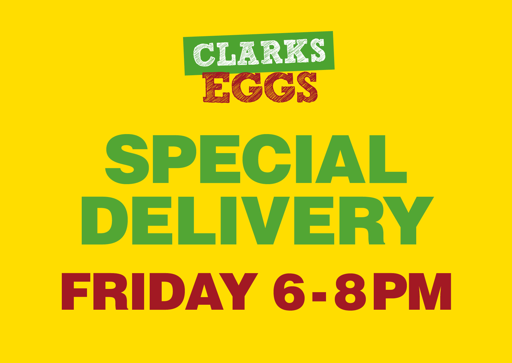 Friday 6-8pm delivery slot