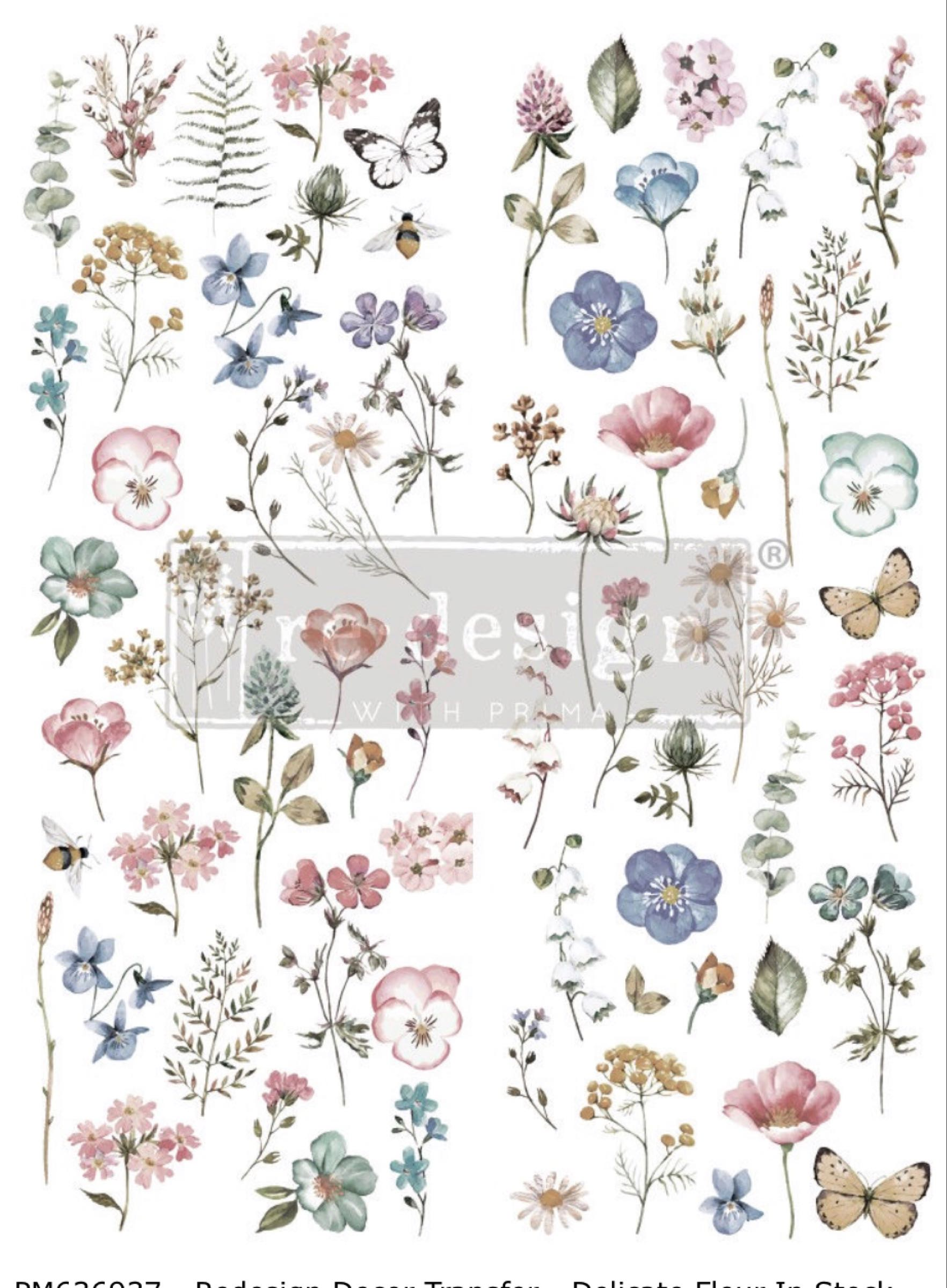 Re-Design with Prima Decor Transfer- Delicate Fleur OUT OF STOCK