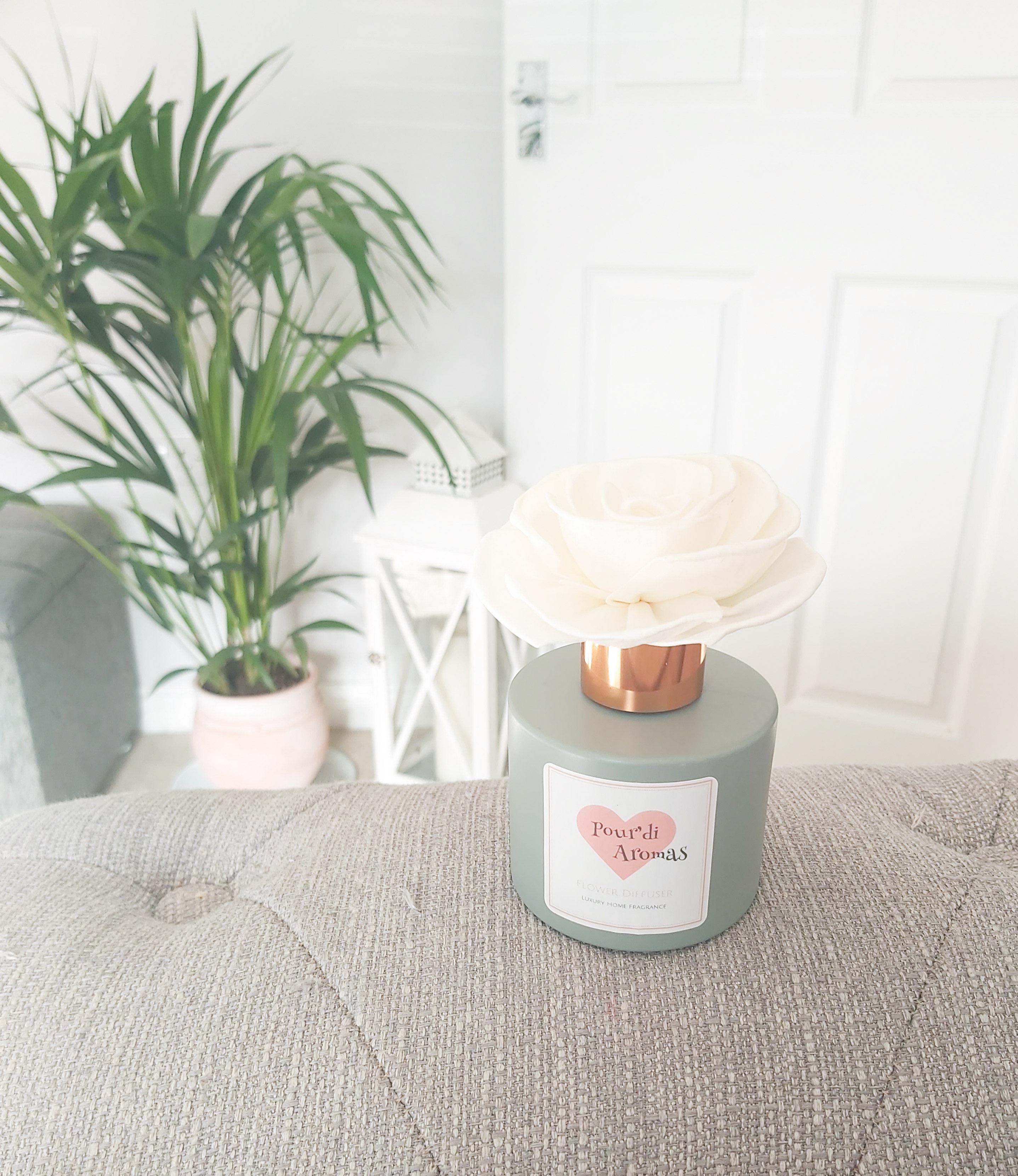 Grey Flower Diffuser
