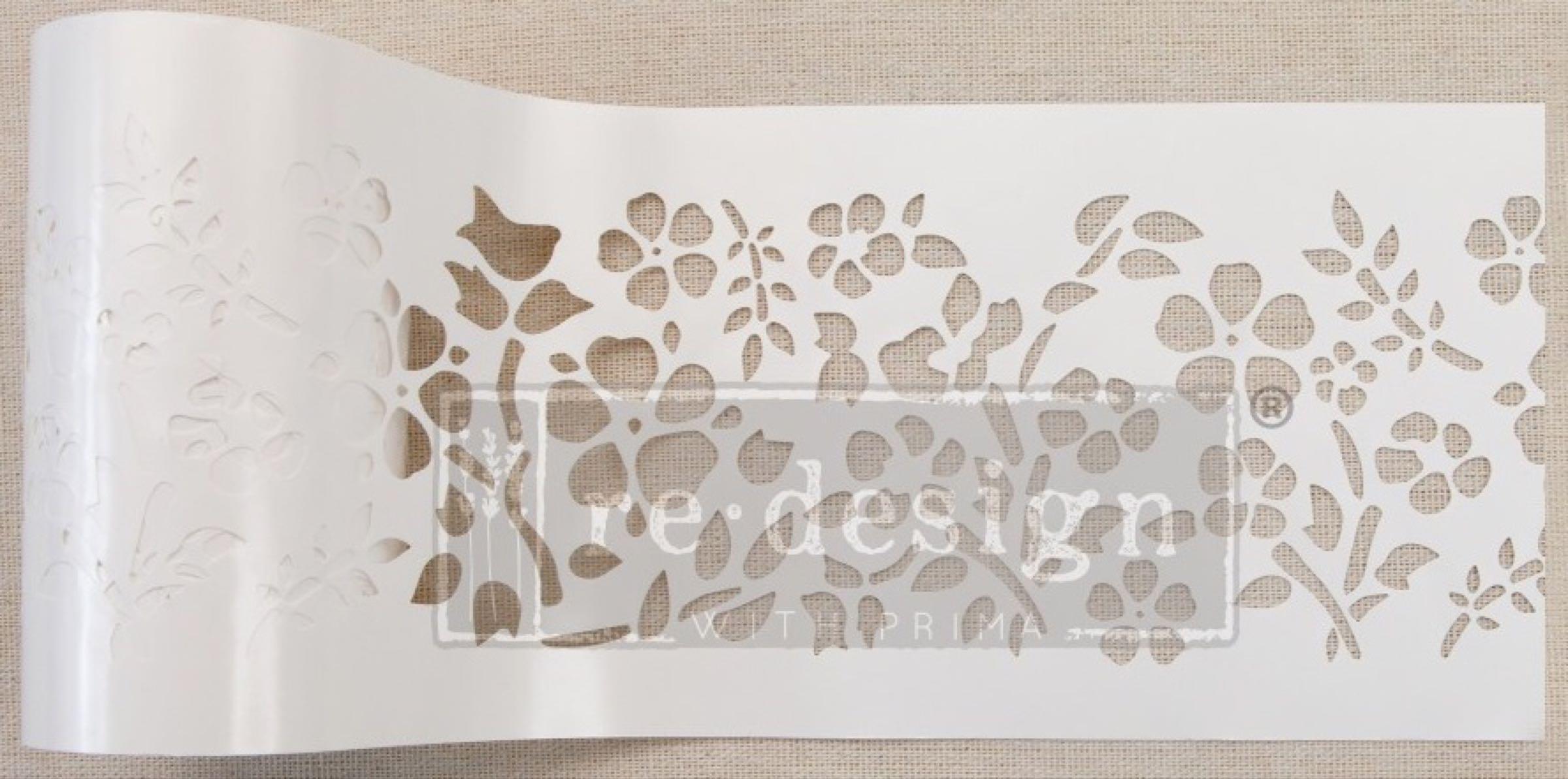 Re-design with Prima Stencil Roll - Royal Ann Garden (Special Order)