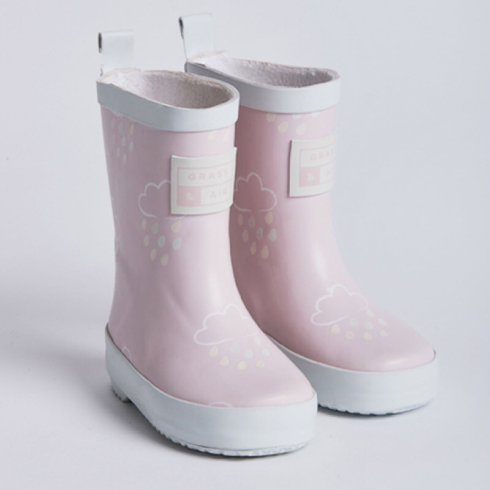 GRASS AND AIR Baby Pink Colour-Revealing Wellies