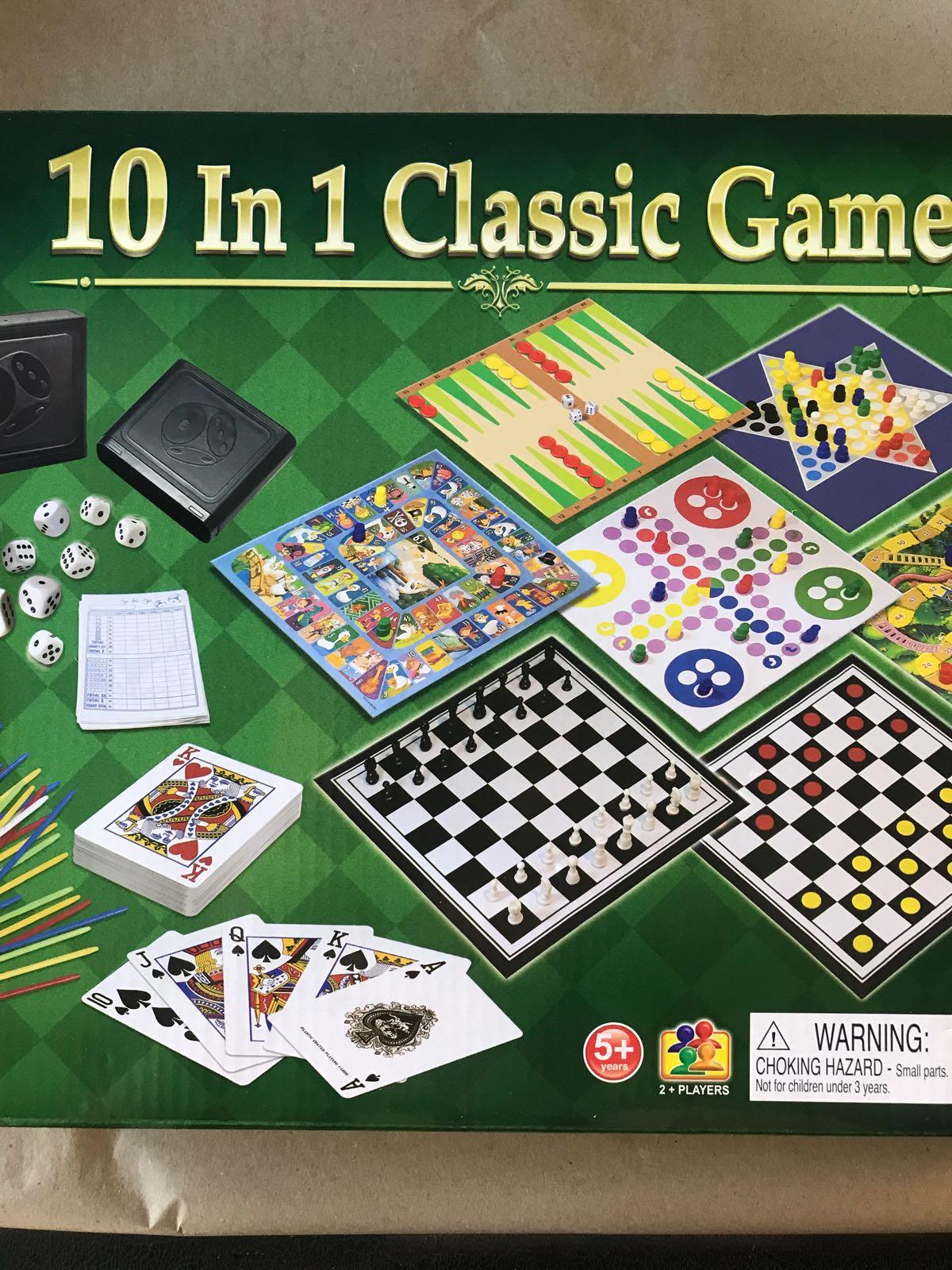 Spellåda med 10 klassiska spel