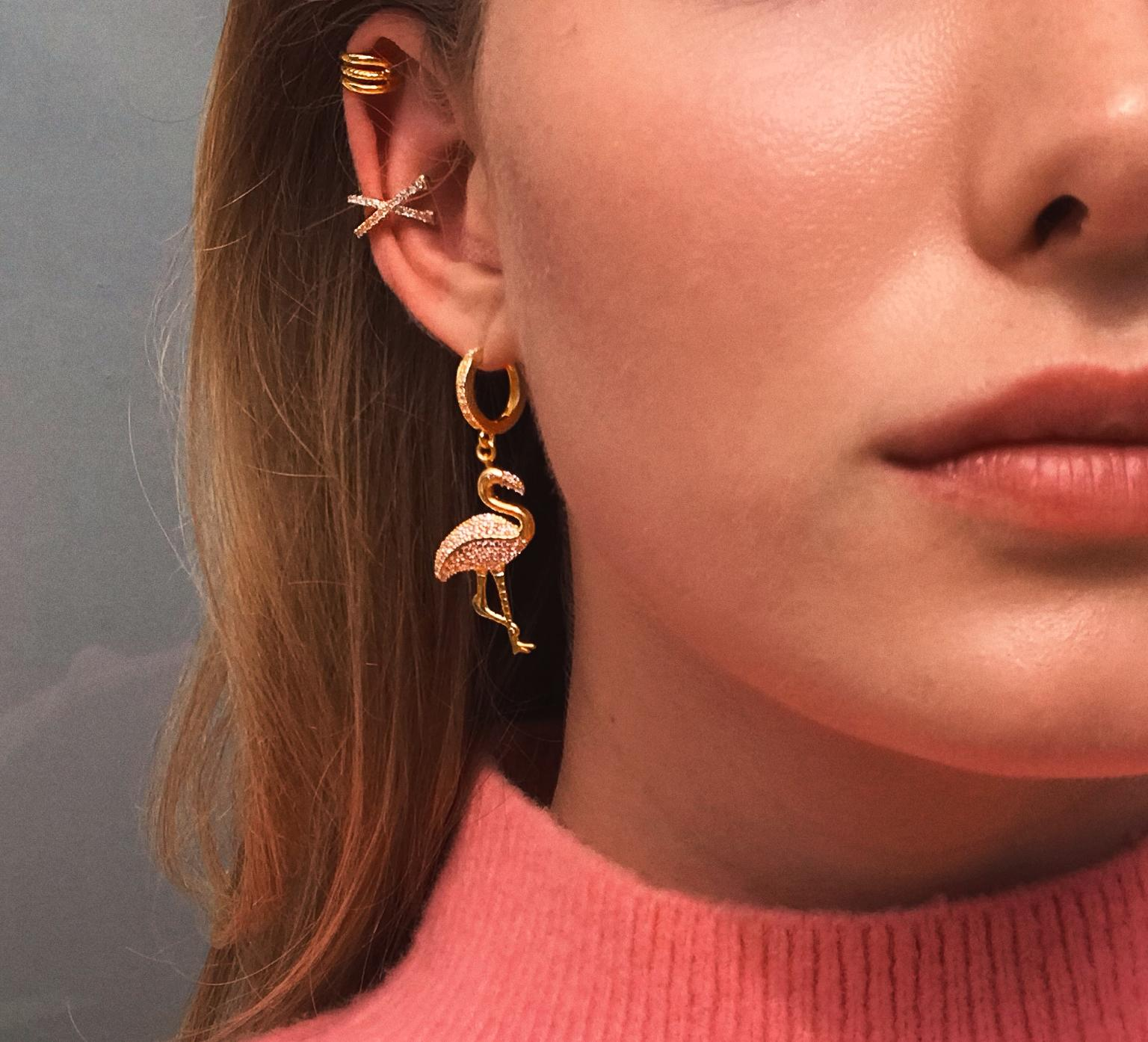 Flamingo Earring Gold