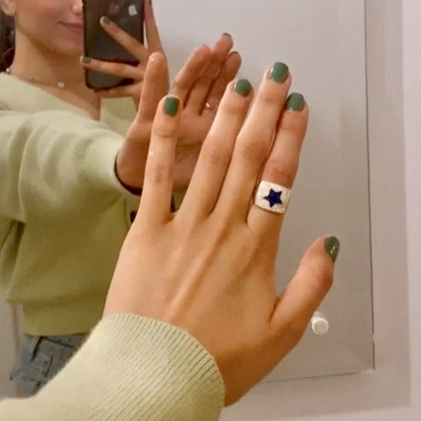 Stamp star ring