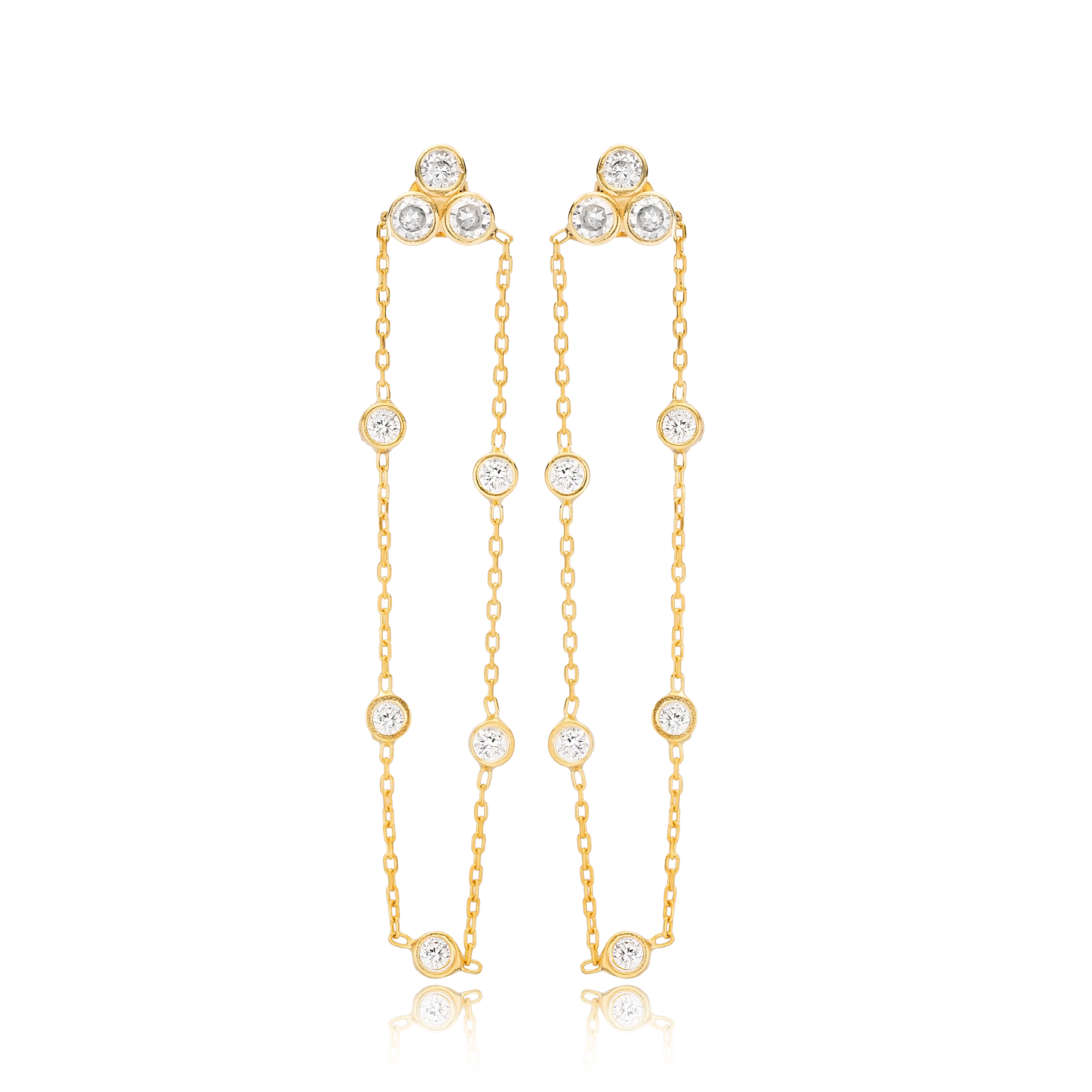 Cristal drop earrings