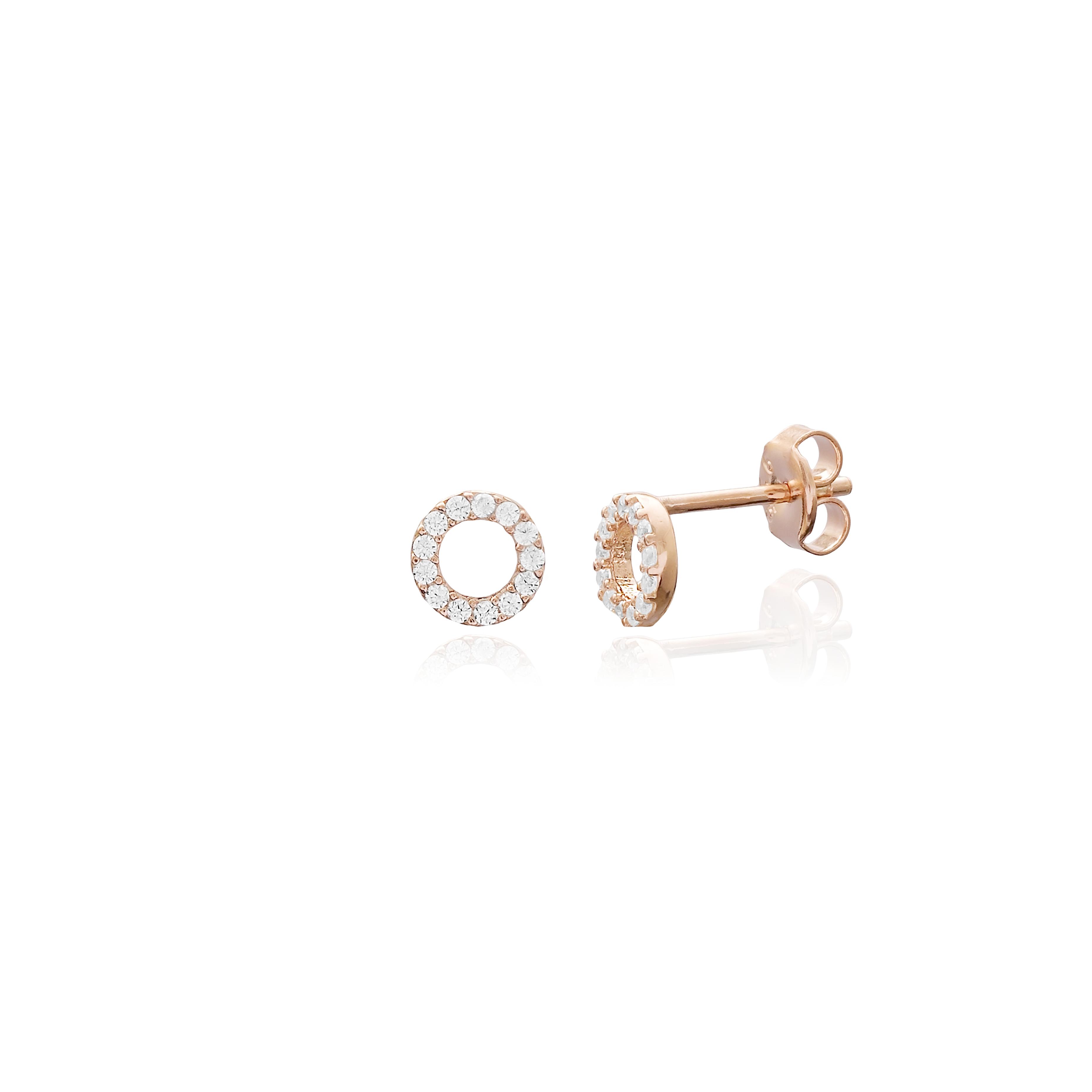 M&M Mini Hollow Earrings White