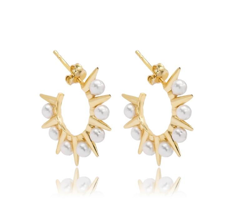 Spike Pearl Earrings
