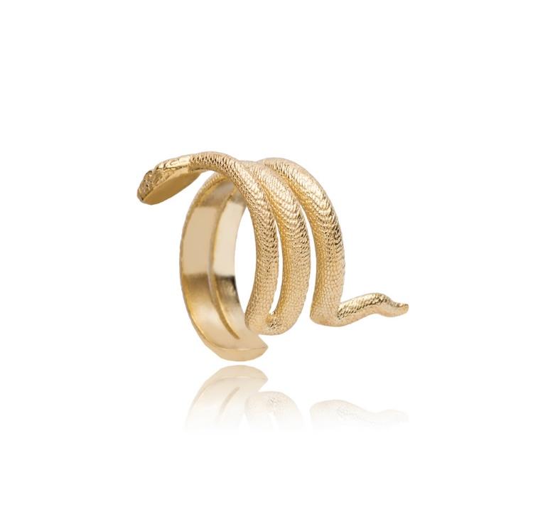 Golden snake cuff