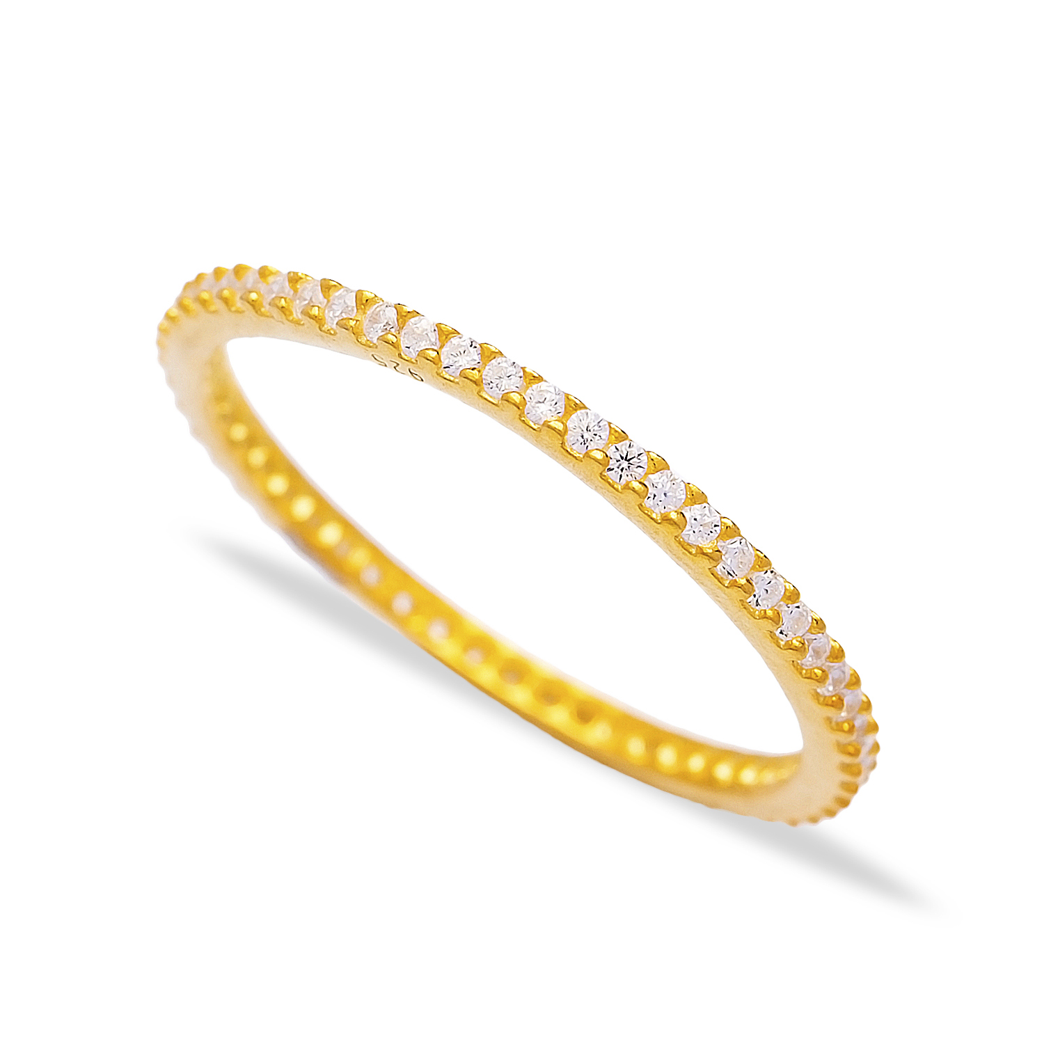 Gold band staking ring
