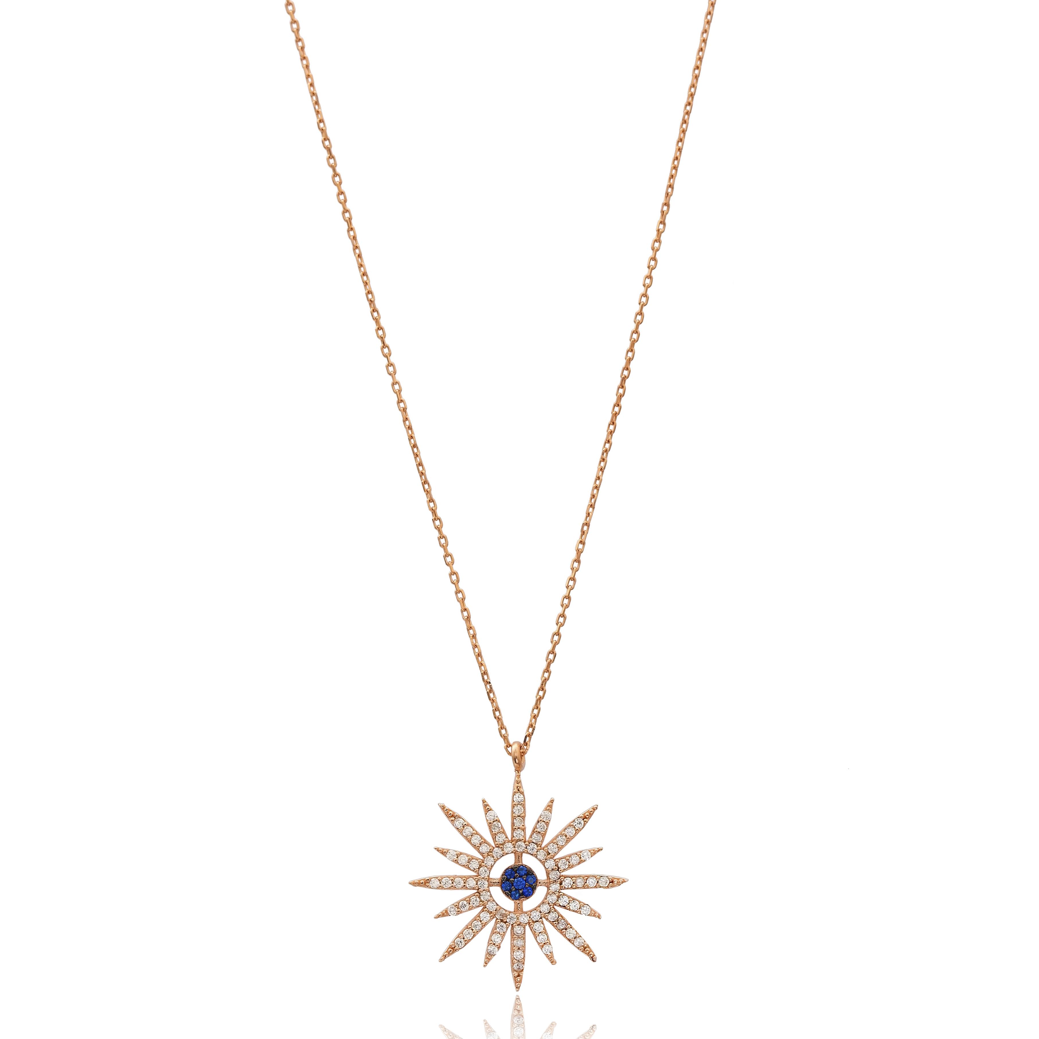 Pole Star Necklace Blue