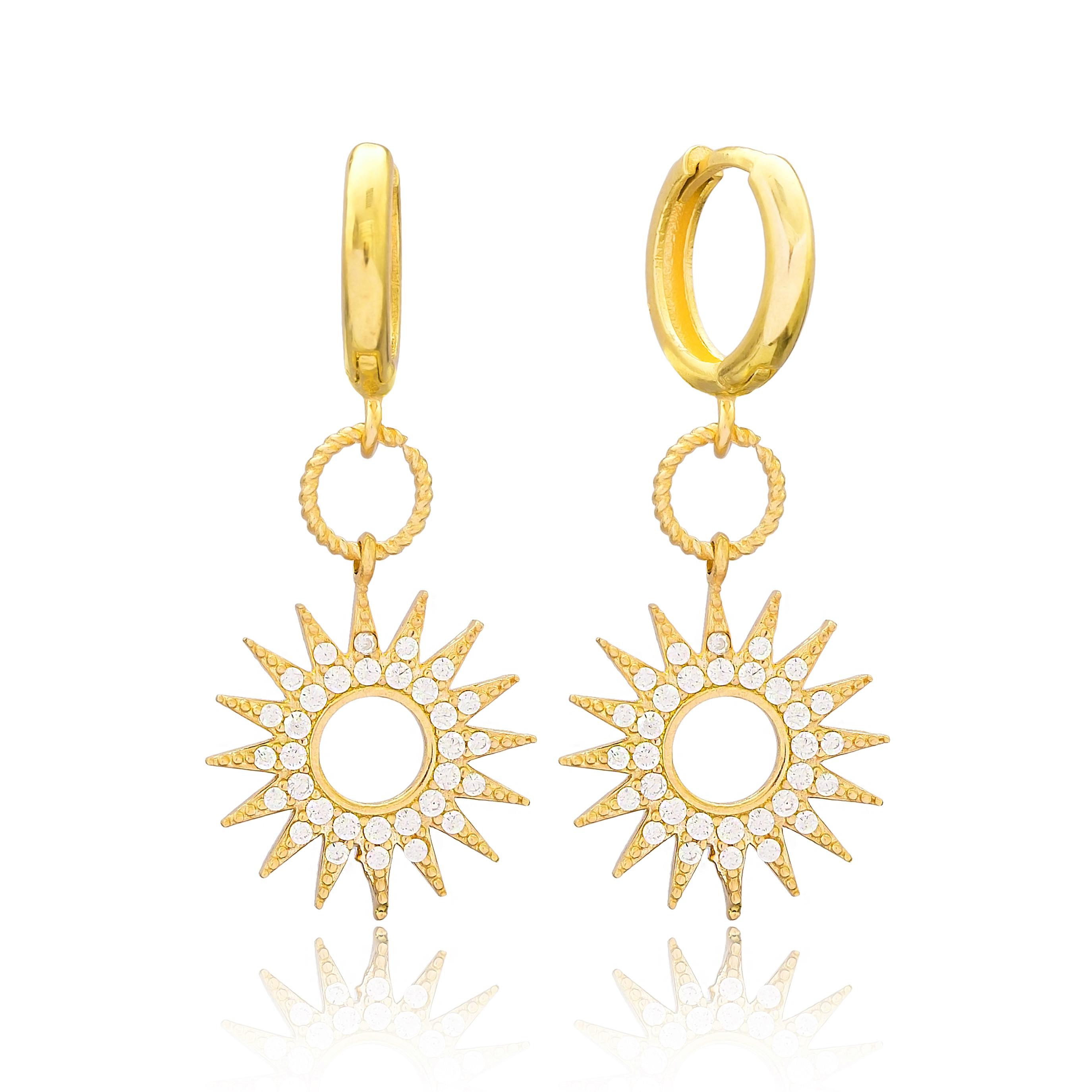 Hoop Sun Earrings