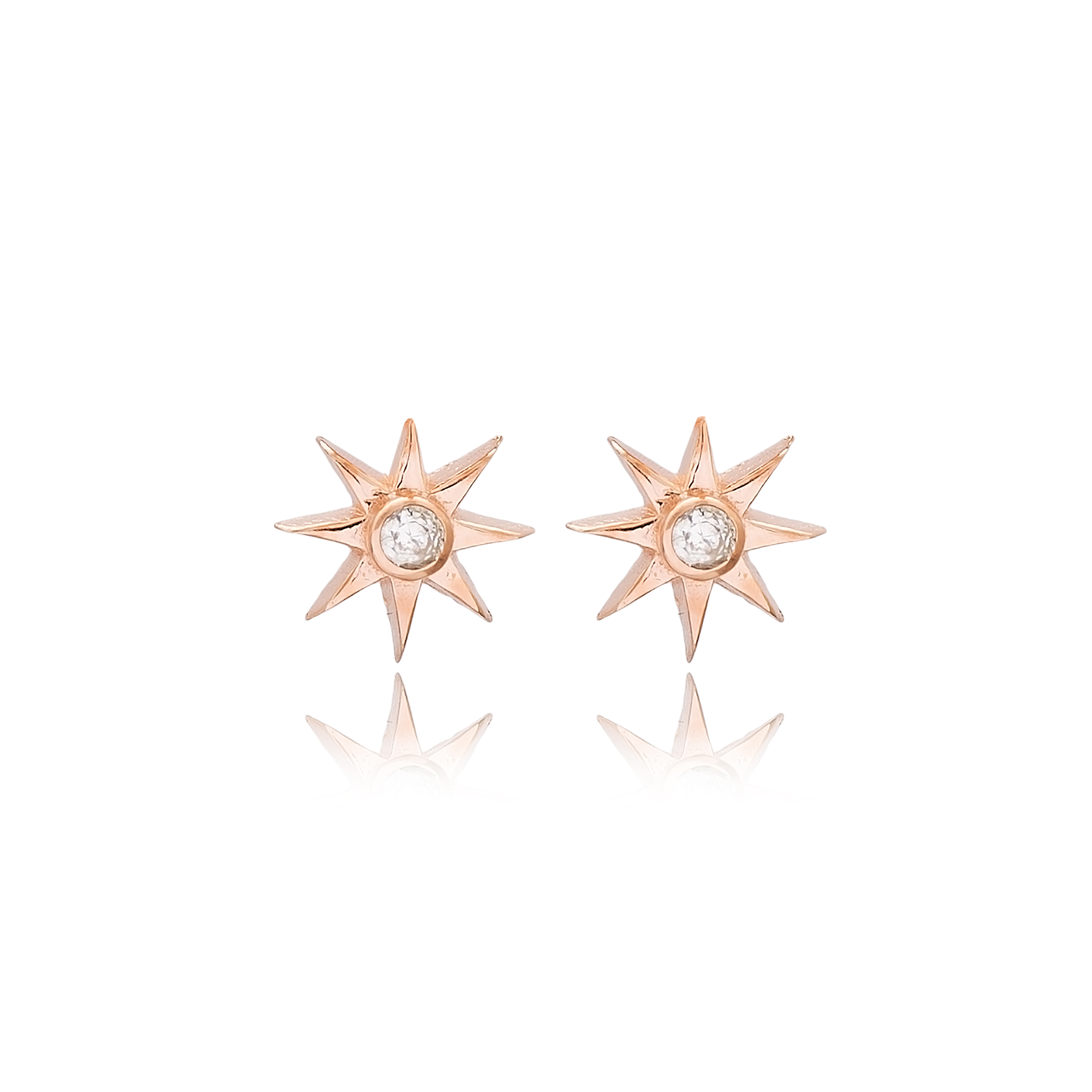 Mini Star Earrings with Stone